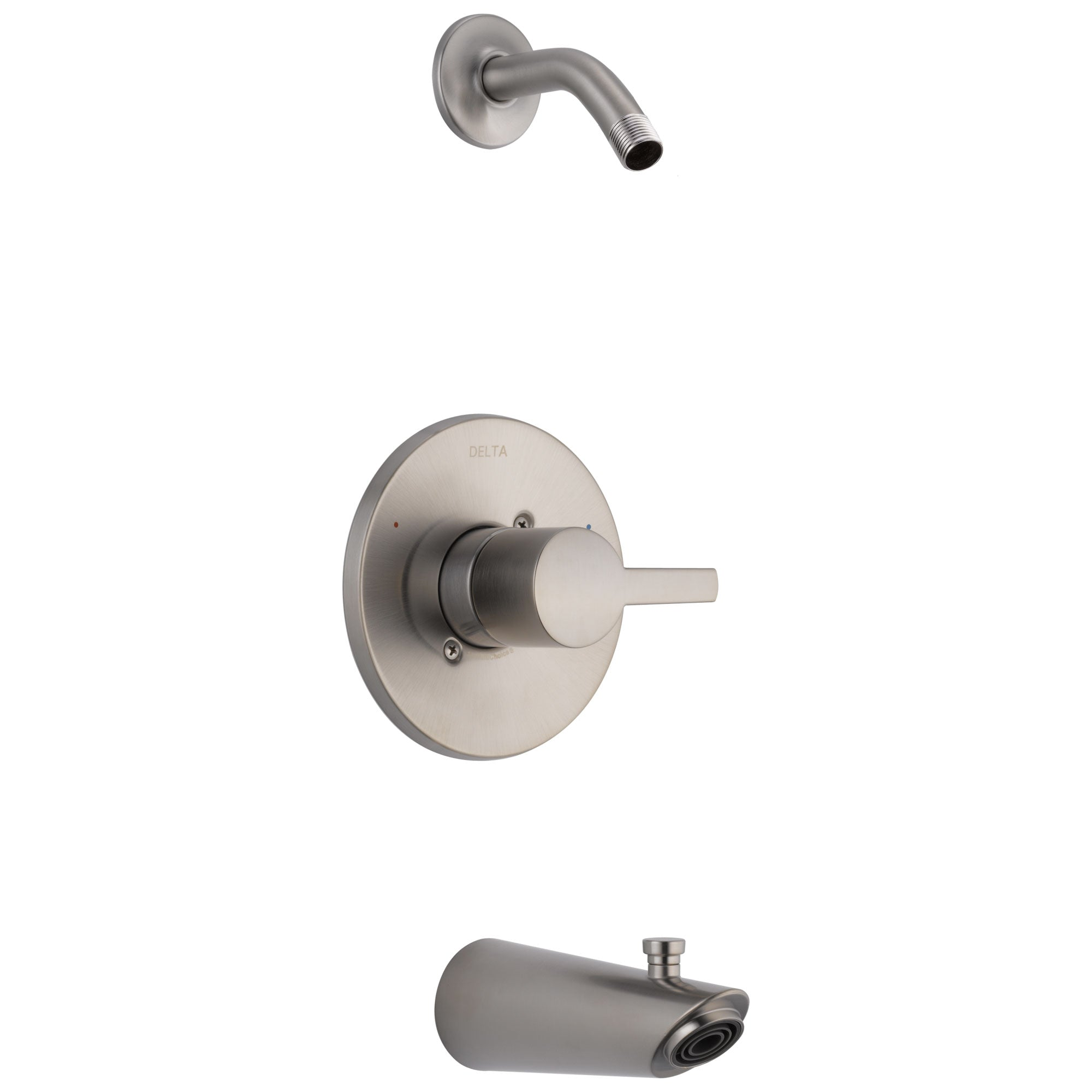 Delta Compel Collection Stainless Steel Finish Monitor 14 Modern Tub & Shower Combination Faucet Trim - Less Showerhead (Requires Valve) DT14461SSLHD