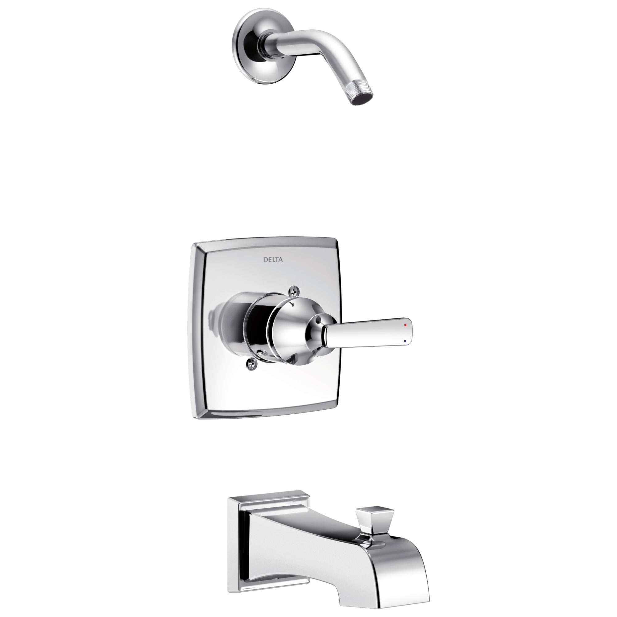 Delta Ashlyn Collection Chrome Monitor 14 Stylish Tub and Shower Combination Faucet Trim - Less Showerhead (Valve Sold Separately) DT14464LHD