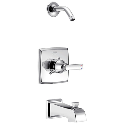Delta Ashlyn Collection Chrome Monitor 14 Stylish Tub and Shower Combination Faucet Trim - Less Showerhead Includes Valve without Stops D2391V
