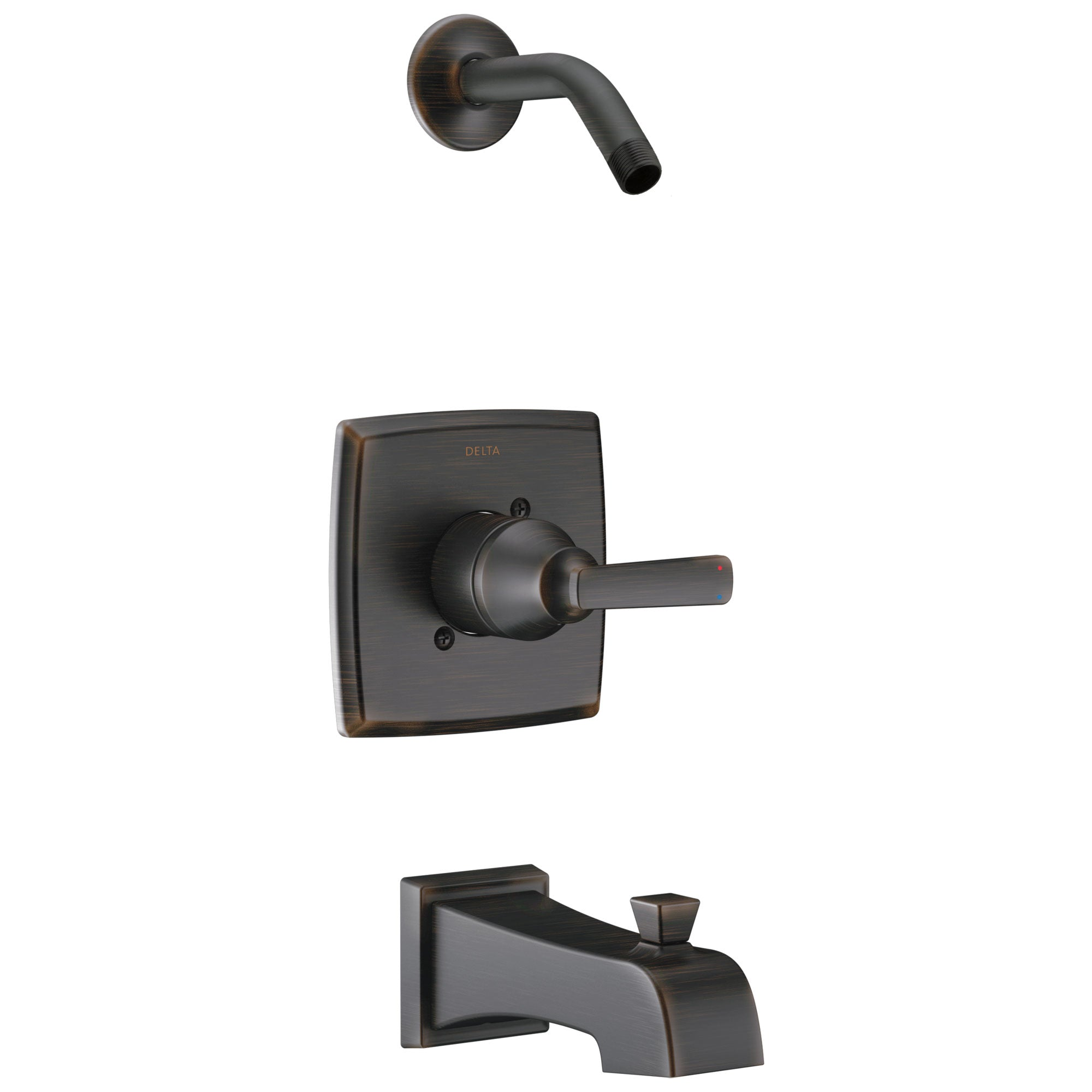 Delta Ashlyn Collection Venetian Bronze Monitor 14 Stylish Tub & Shower Combination Faucet Trim - Less Showerhead Includes Valve with Stops D2390V