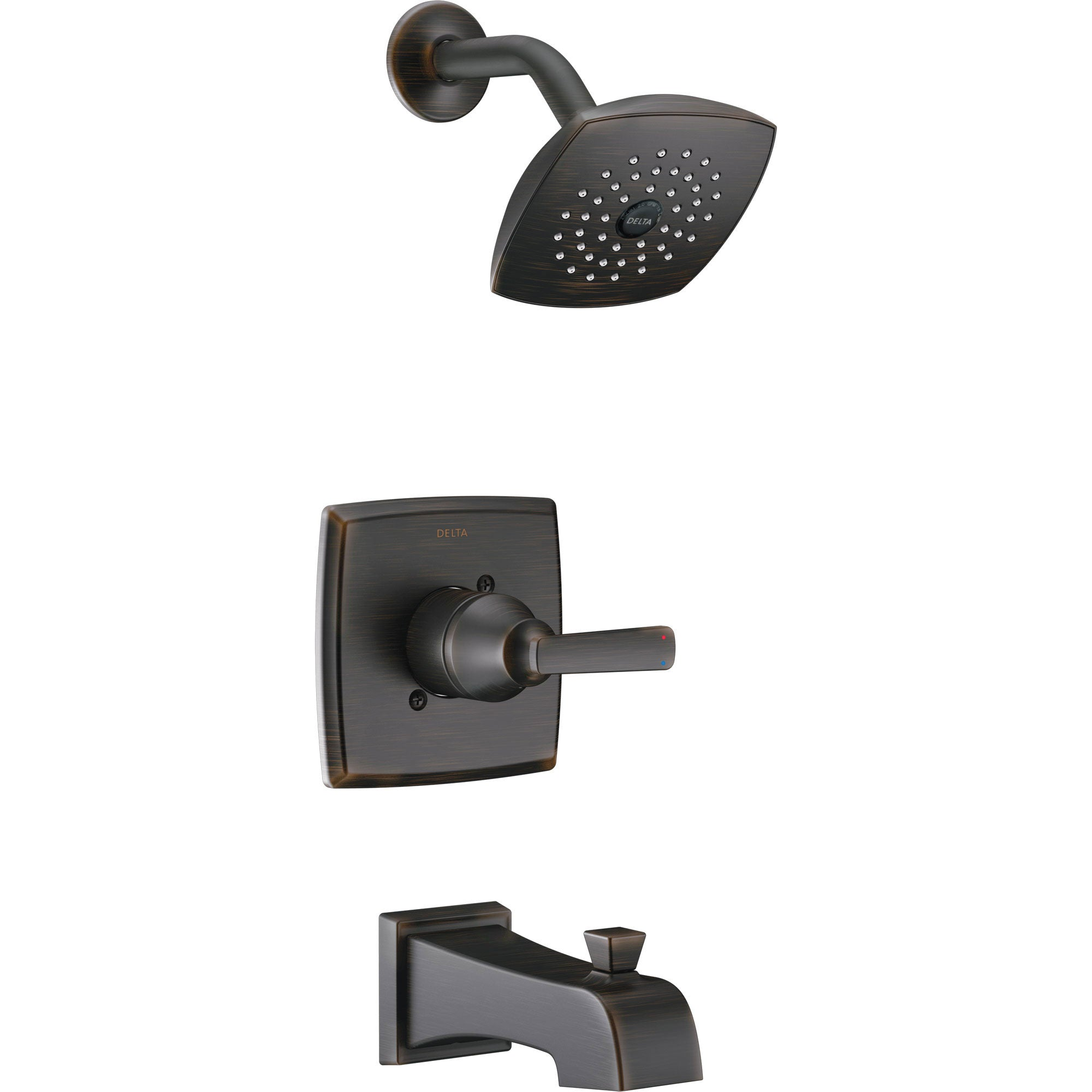 Delta Ashlyn Modern Venetian Bronze Finish 14 Series Watersense Single Handle Tub and Shower Combination Faucet INCLUDES Rough-in Valve D1172V
