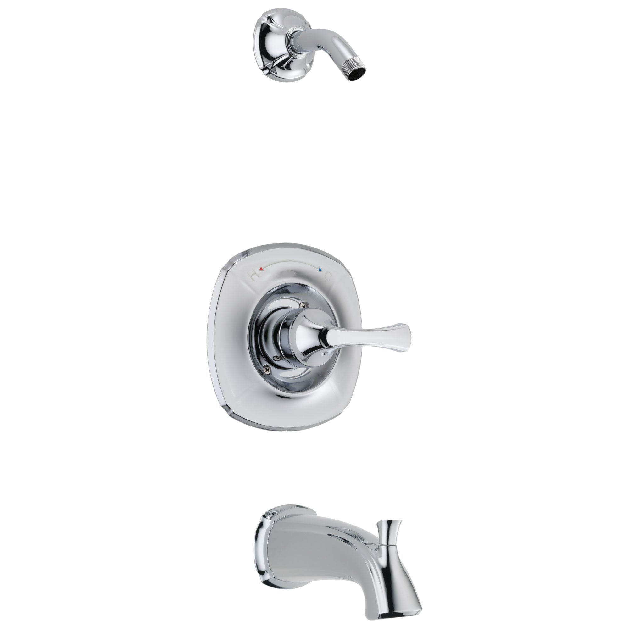 Delta Addison Collection Chrome Finish Monitor 14 Series Bath Tub and Shower Faucet - Less Showerhead Includes Trim Kit Rough Valve with Stops D2376V