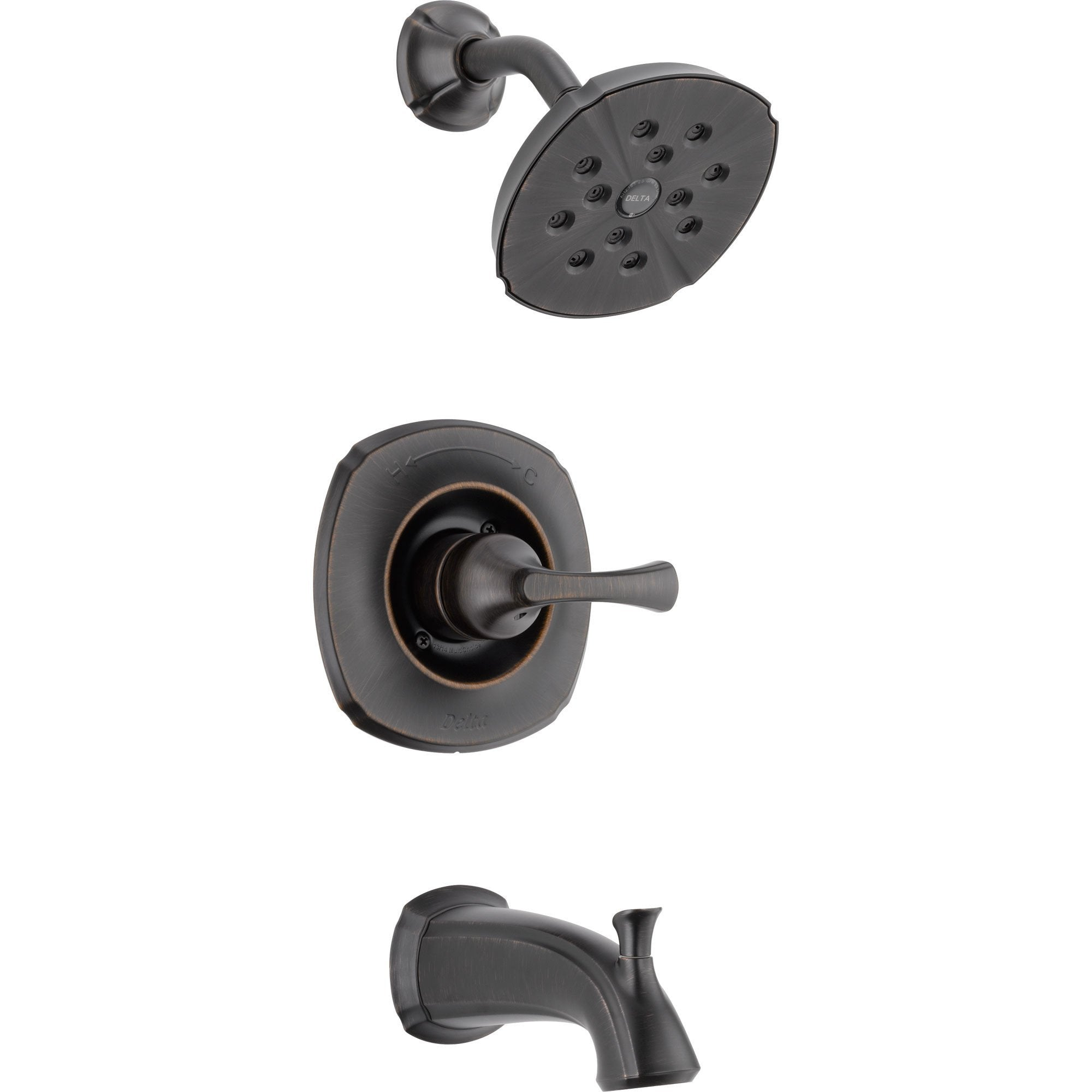 Delta Addison Wall Mount Venetian Bronze Tub and Shower Faucet with Valve D273V