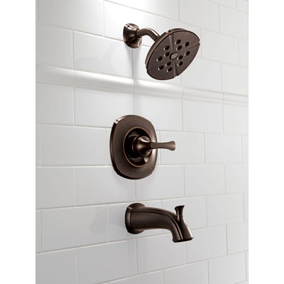 Delta Addison Wall Mount Venetian Bronze Tub and Shower Faucet with Valve D339V