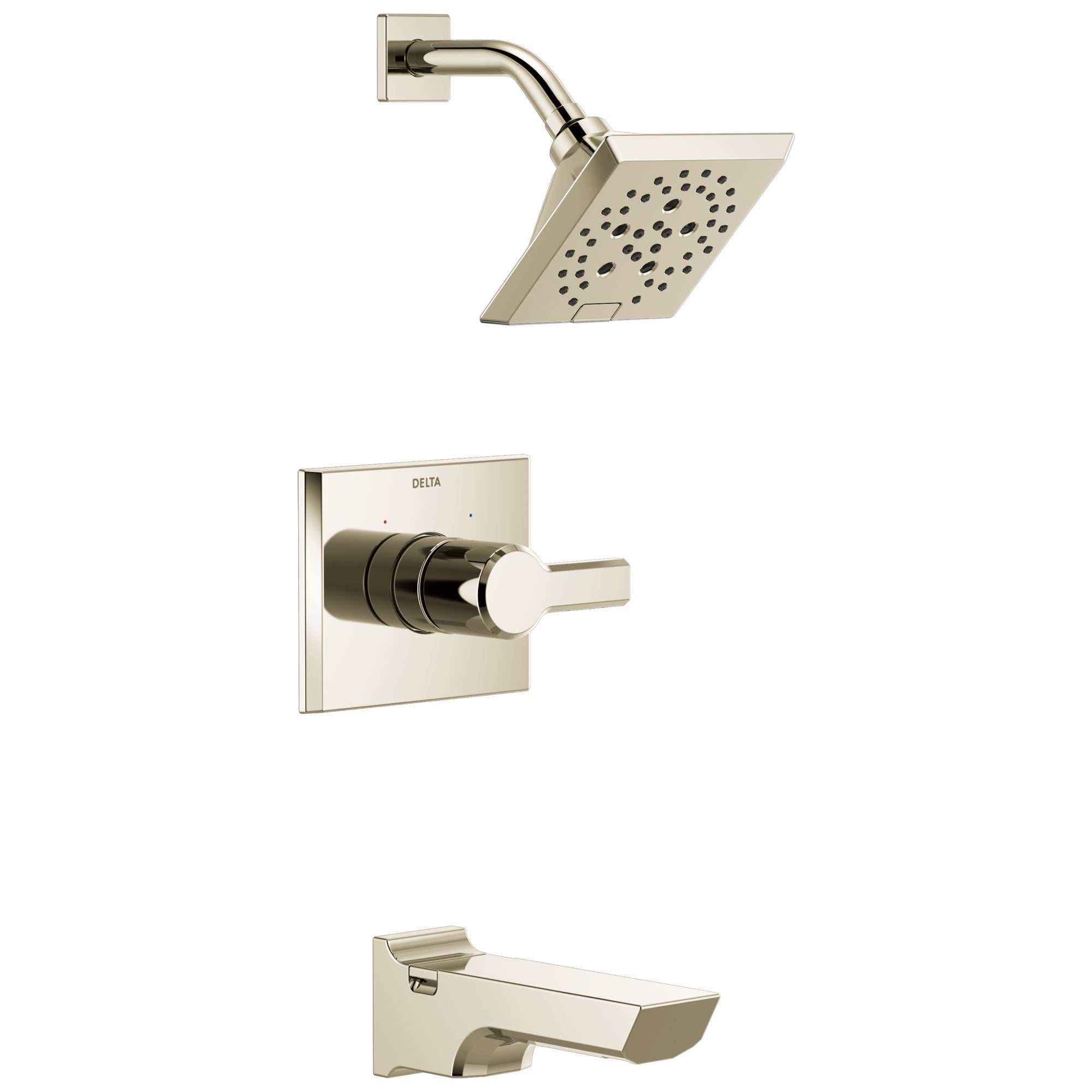 Delta Pivotal Polished Nickel Finish Monitor 14 Series H2Okinetic Tub and Shower Combination Faucet Trim Kit (Requires Valve) DT14499PN