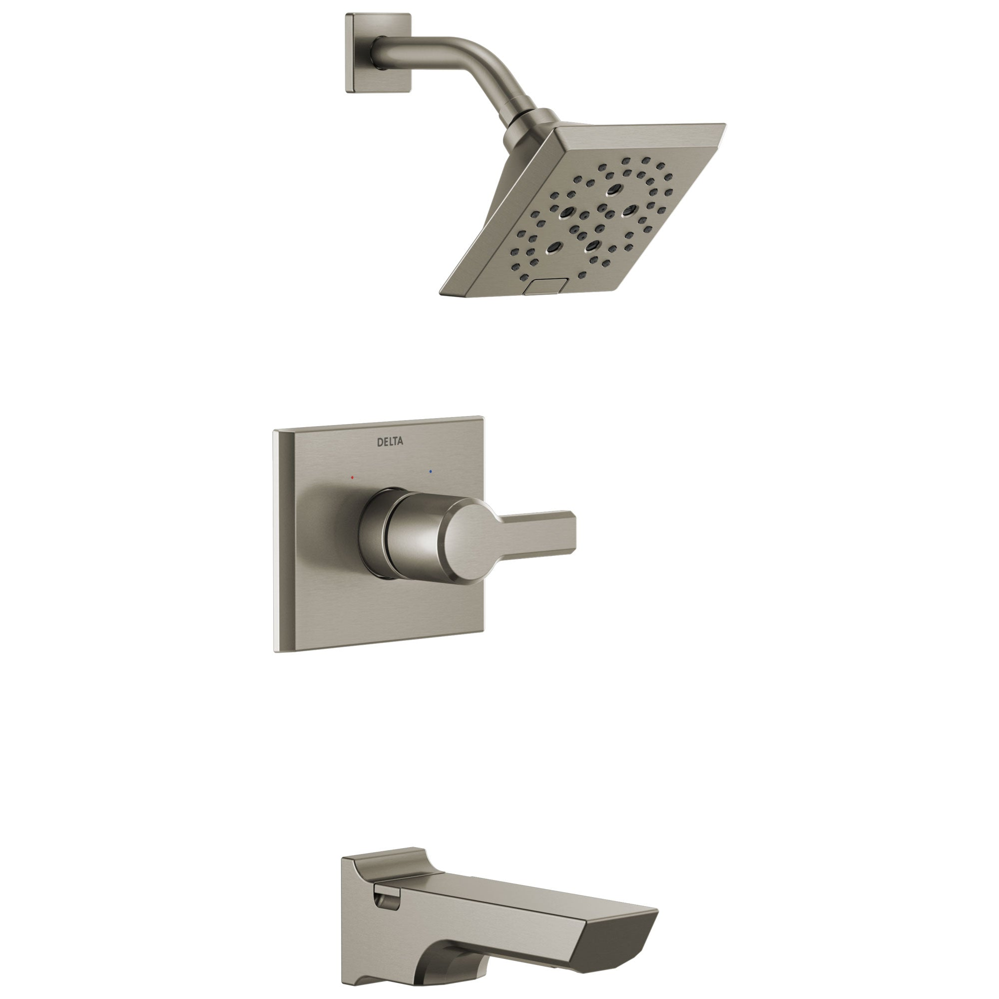 Delta Pivotal Stainless Steel Finish Monitor 14 Series H2Okinetic Tub and Shower Combination Faucet Trim Kit (Requires Valve) DT14499SS