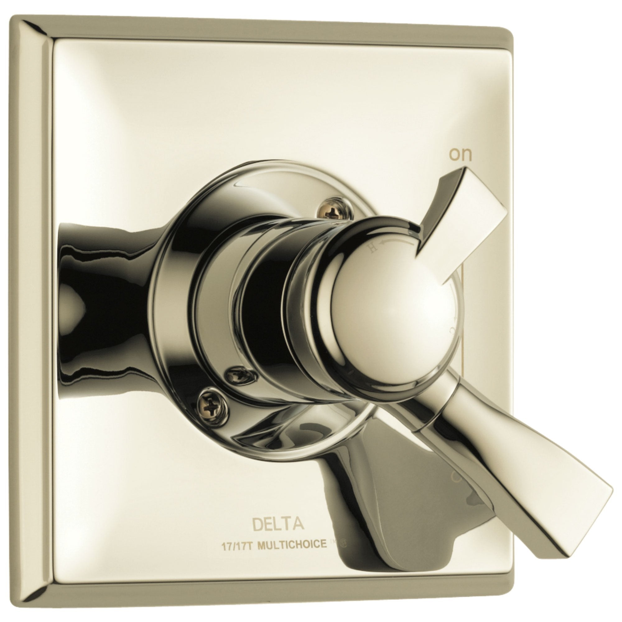 Delta Dryden Collection Polished Nickel Monitor 17 Series Dual Temp and Pressure Shower Faucet Control Valve Only Includes Rough Valve without Stops D2359V