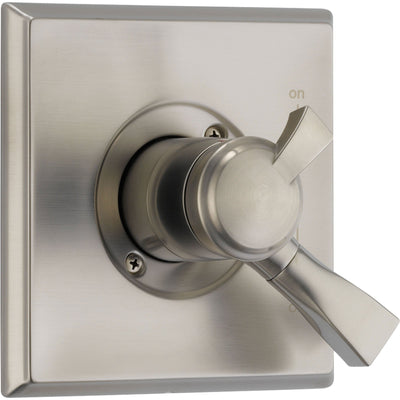 Delta Temperature and Volume Control Stainless Steel Finish Shower w/Valve D082V