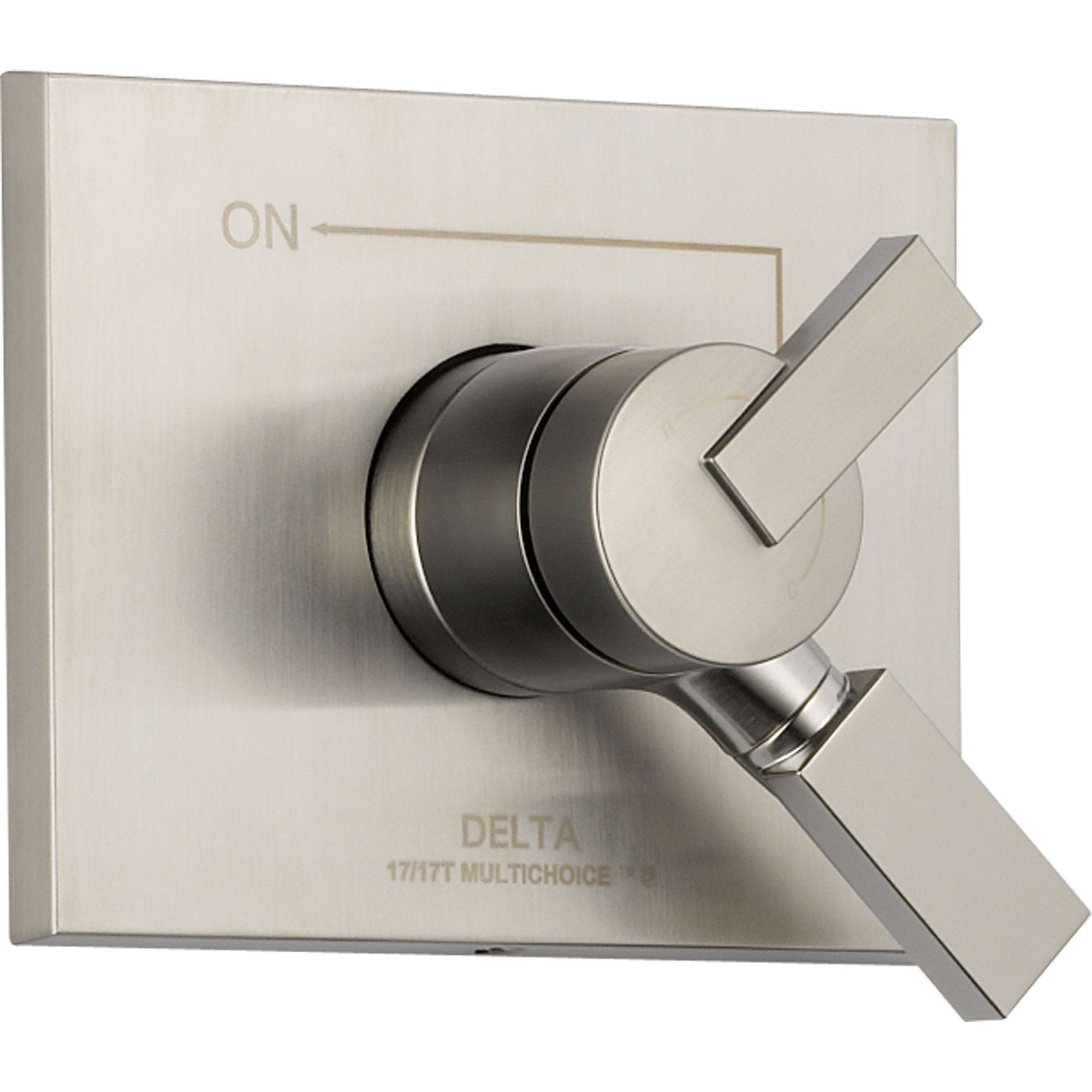 Delta Temperature & Volume Control Stainless Steel Finish Shower w/ Valve D086V