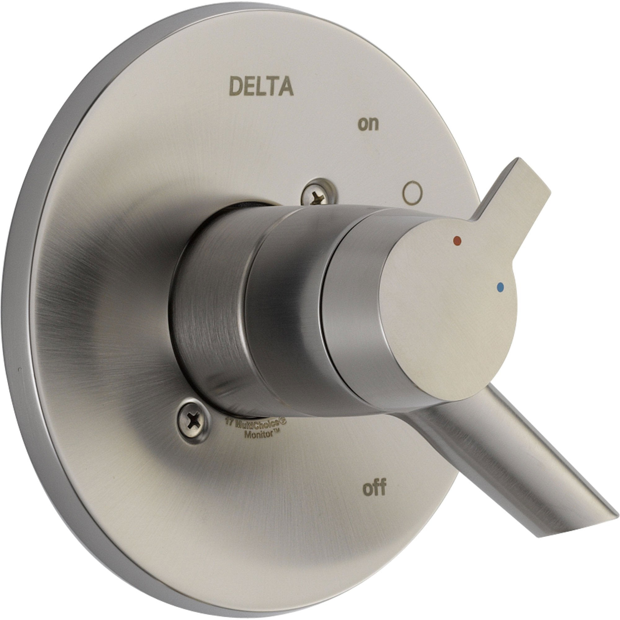 Delta Compel Temp & Volume Control Stainless Steel Finish Shower w/ Valve D129V
