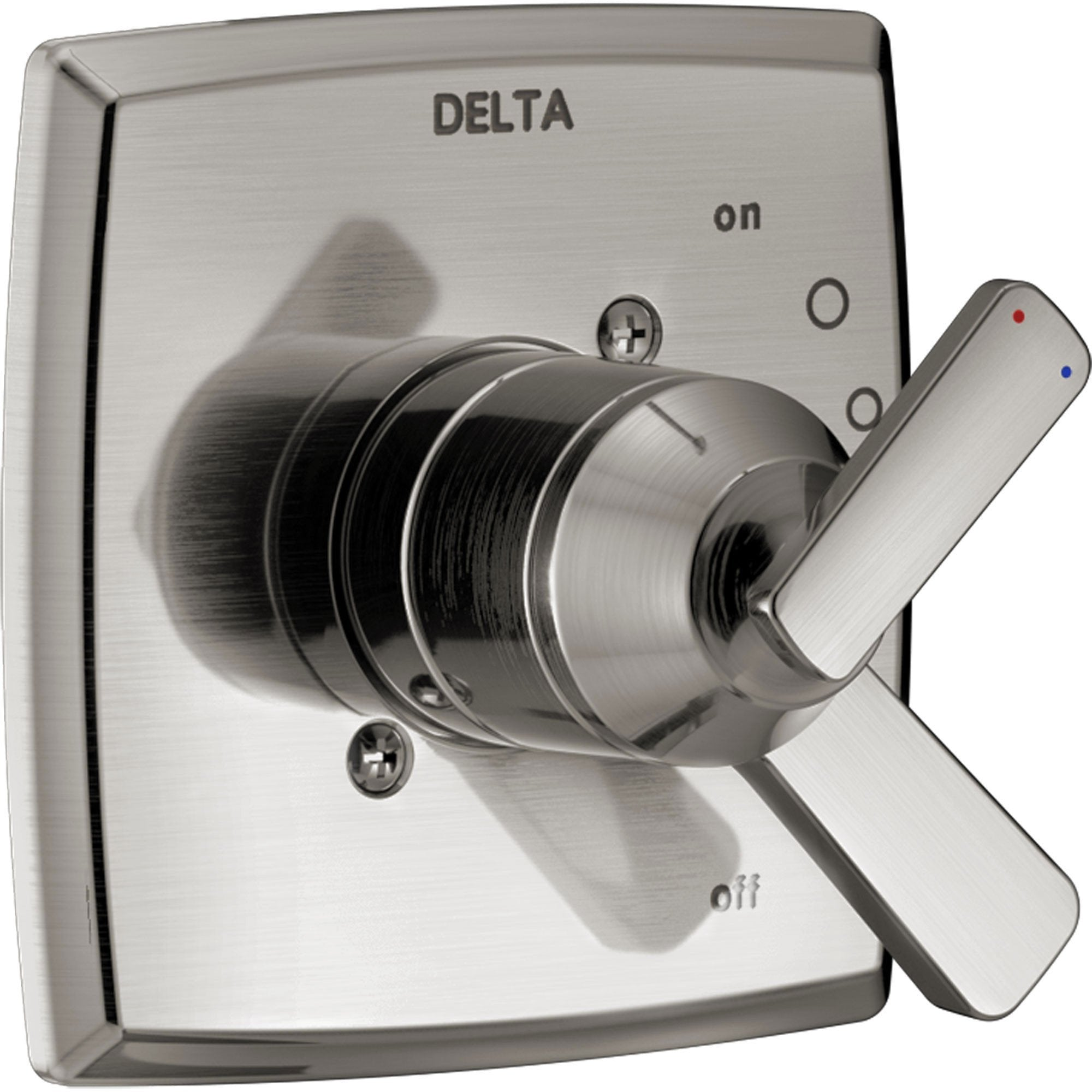 Delta Ashlyn Modern Stainless Steel Finish 17 Series Dual Temperature and Pressure Shower Faucet Control INCLUDES Rough-in Valve D1152V