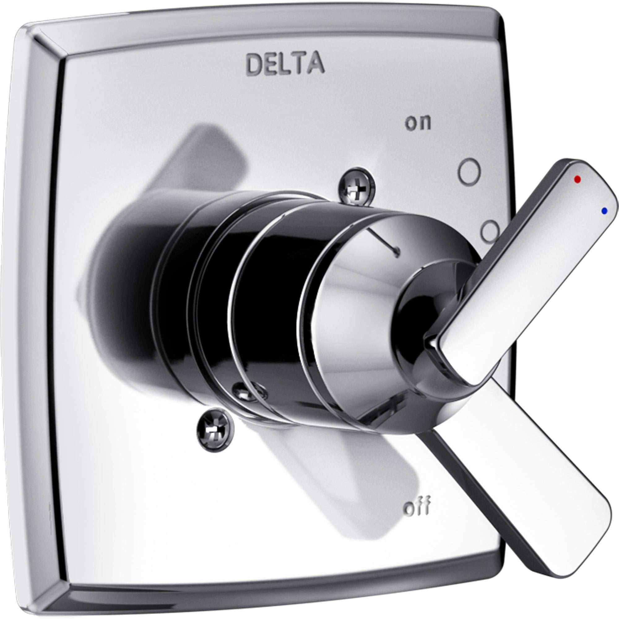 Delta Ashlyn Modern Chrome Finish 17 Series Dual Temperature and Pressure Shower Faucet Control INCLUDES Rough-in Valve with Stops D1157V