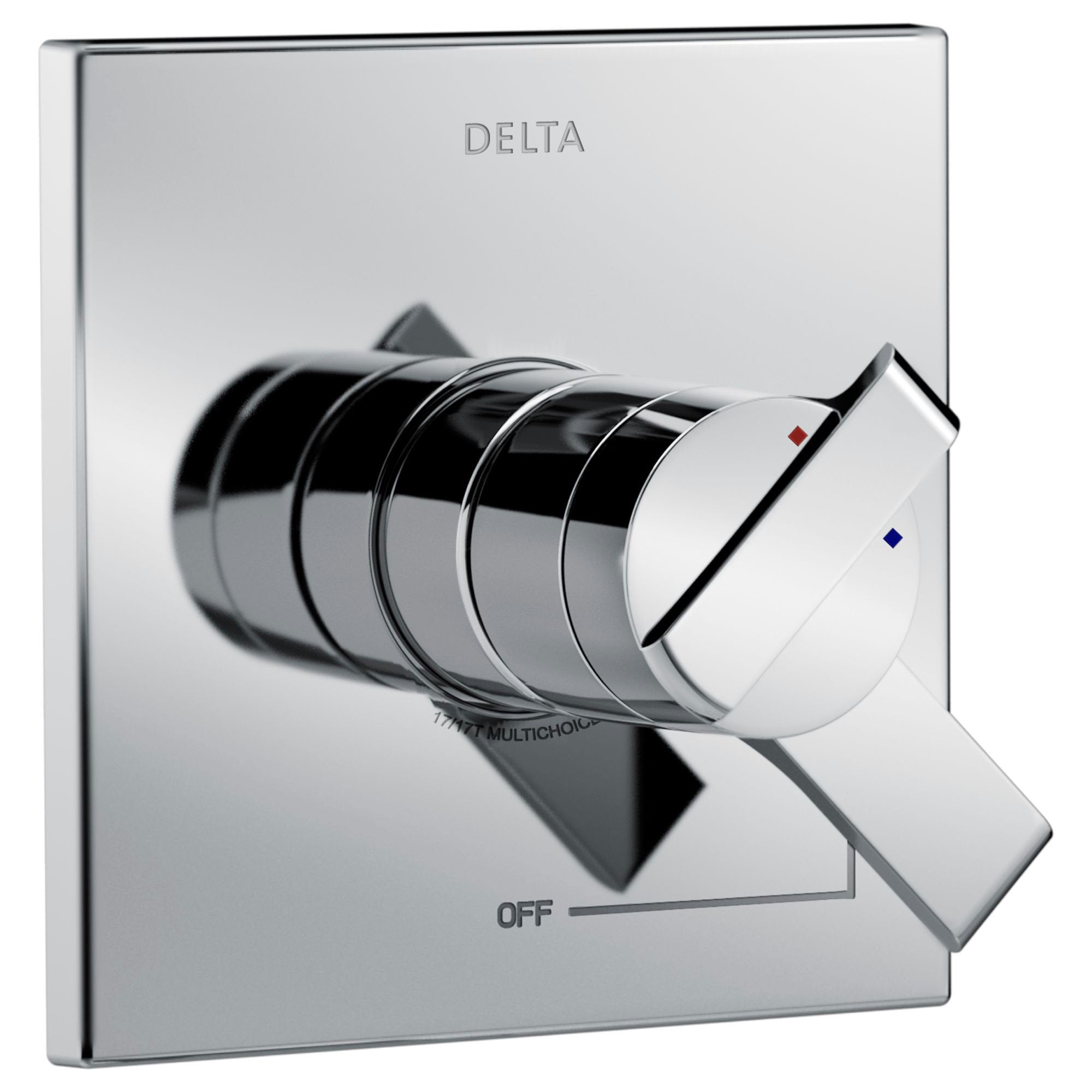 Delta Ara Modern Chrome Finish 17 Series Dual Temperature and Pressure Shower Faucet Control INCLUDES Rough-in Valve with Stops D1151V