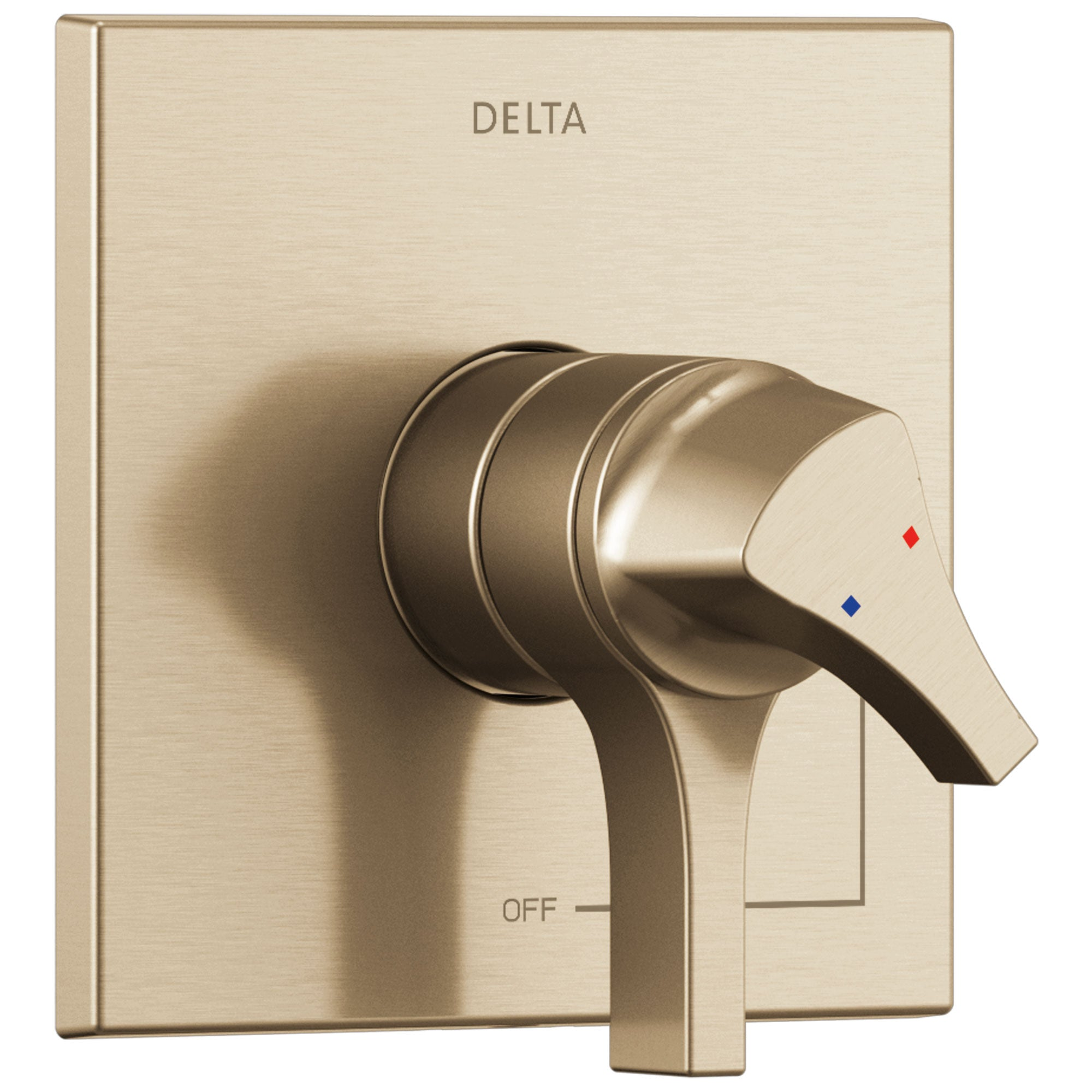 Delta Zura Champagne Bronze Finish Monitor 17 Series Shower Faucet Control Only Includes Cartridge, Handles, and Valve without Stops D3407V