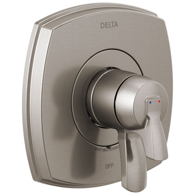 Delta Stryke Stainless Steel Finish 17 Series Shower Faucet Control Only Includes Cartridge, Handles, and Valve with Stops D3400V