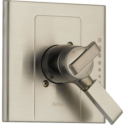 Delta Arzo Temp & Volume Control Stainless Steel Finish Shower with Valve D135V