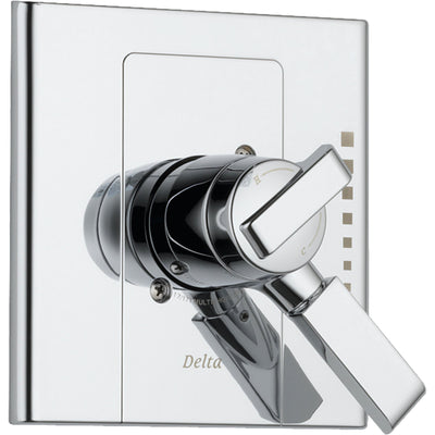 Delta Arzo 2-Handle Chrome Modern Temp/Volume Shower Control with Valve D134V