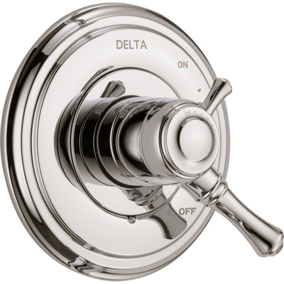 Delta Cassidy Two Handle Polished Nickel Shower Faucet Control with Valve D109V