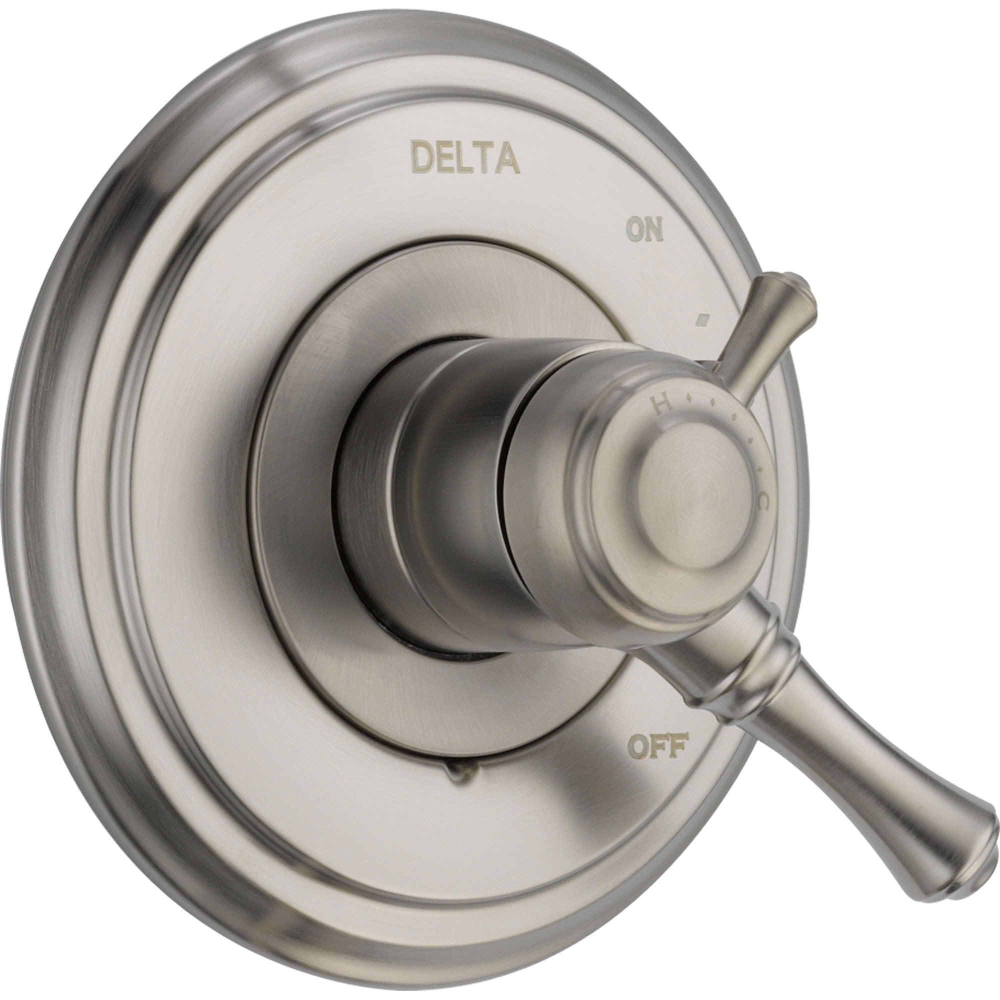 Delta Cassidy Two Handle Stainless Steel Finish Shower Control with Valve D148V