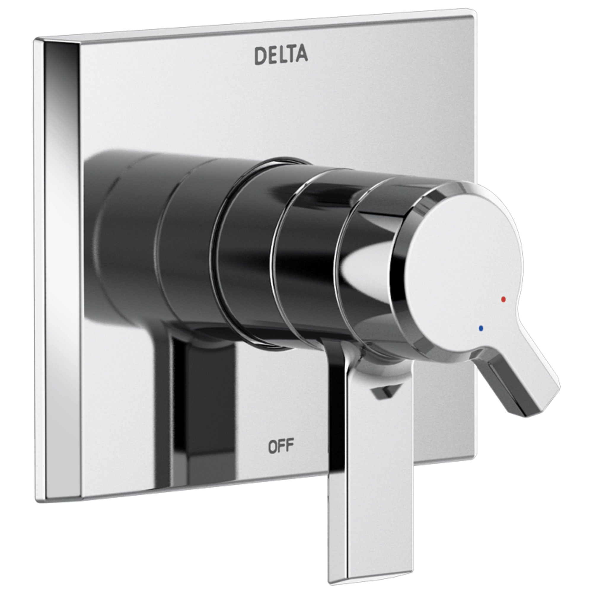 Delta Pivotal Modern Chrome Finish Monitor 17 Series Shower Faucet Control Includes Handles, Cartridge, and Valve without Stops D3397V