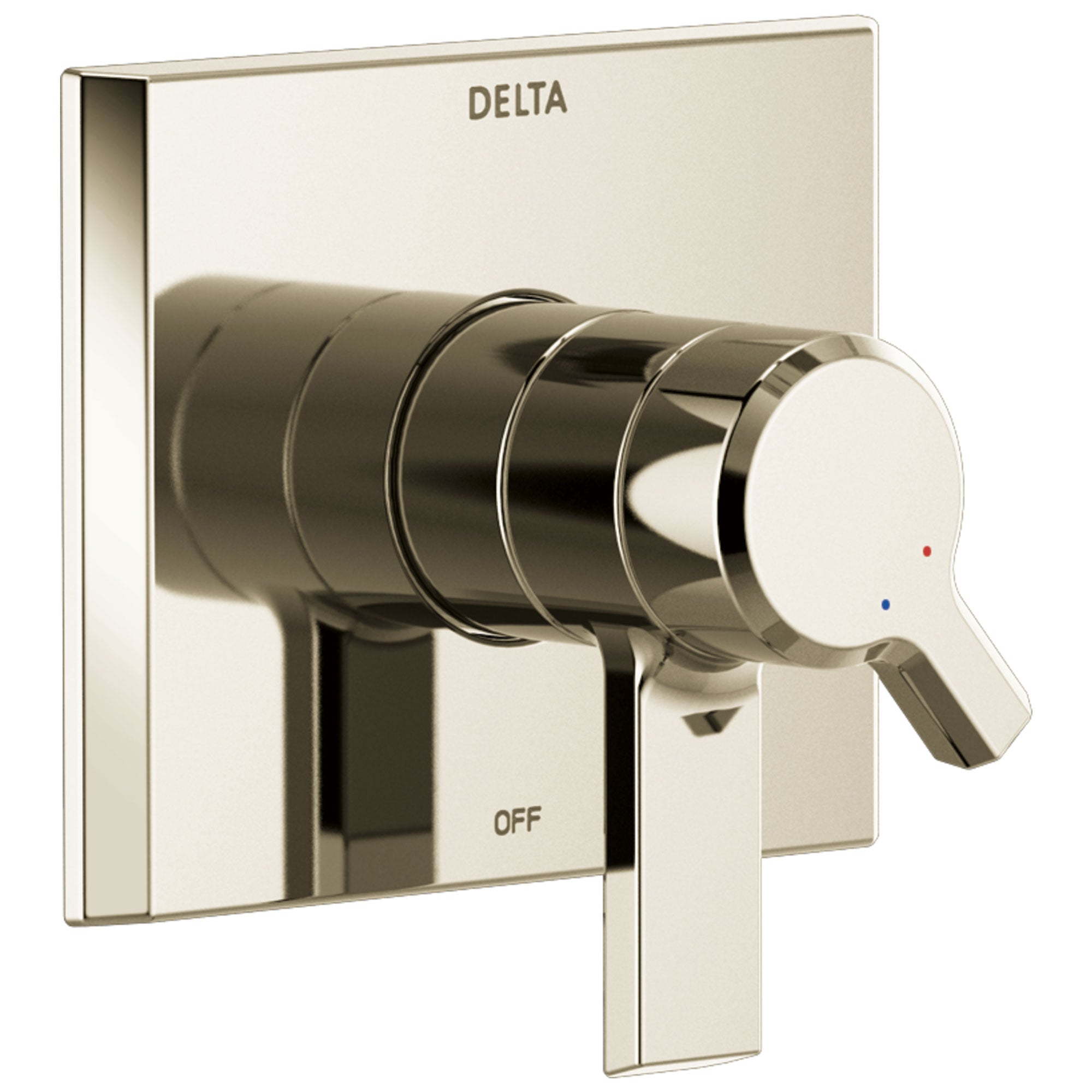 Delta Pivotal Modern Polished Nickel Finish Monitor 17 Series Shower Faucet Control Includes Handles, Cartridge, and Valve with Stops D3394V