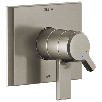 Delta Pivotal Modern Stainless Steel Finish Monitor 17 Series Shower Faucet Control Includes Handles, Cartridge, and Valve without Stops D3391V