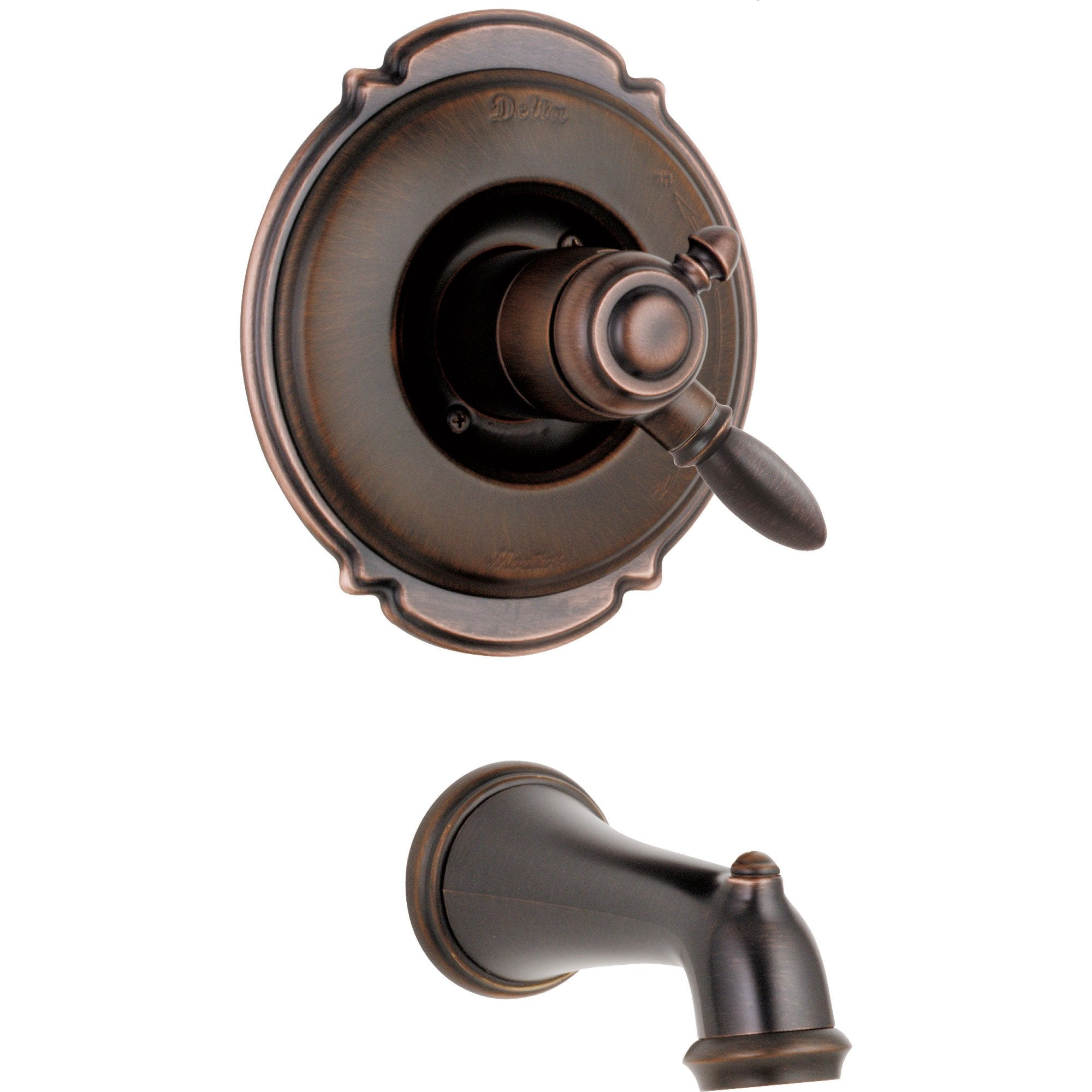 Delta Victorian Venetian Bronze Temp/Volume Control Tub Filler with Valve D220V