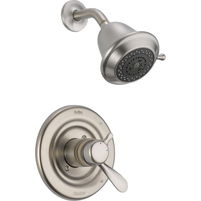 Delta Stainless Steel Finish Temp / Volume Control Shower Faucet Trim Kit 614959