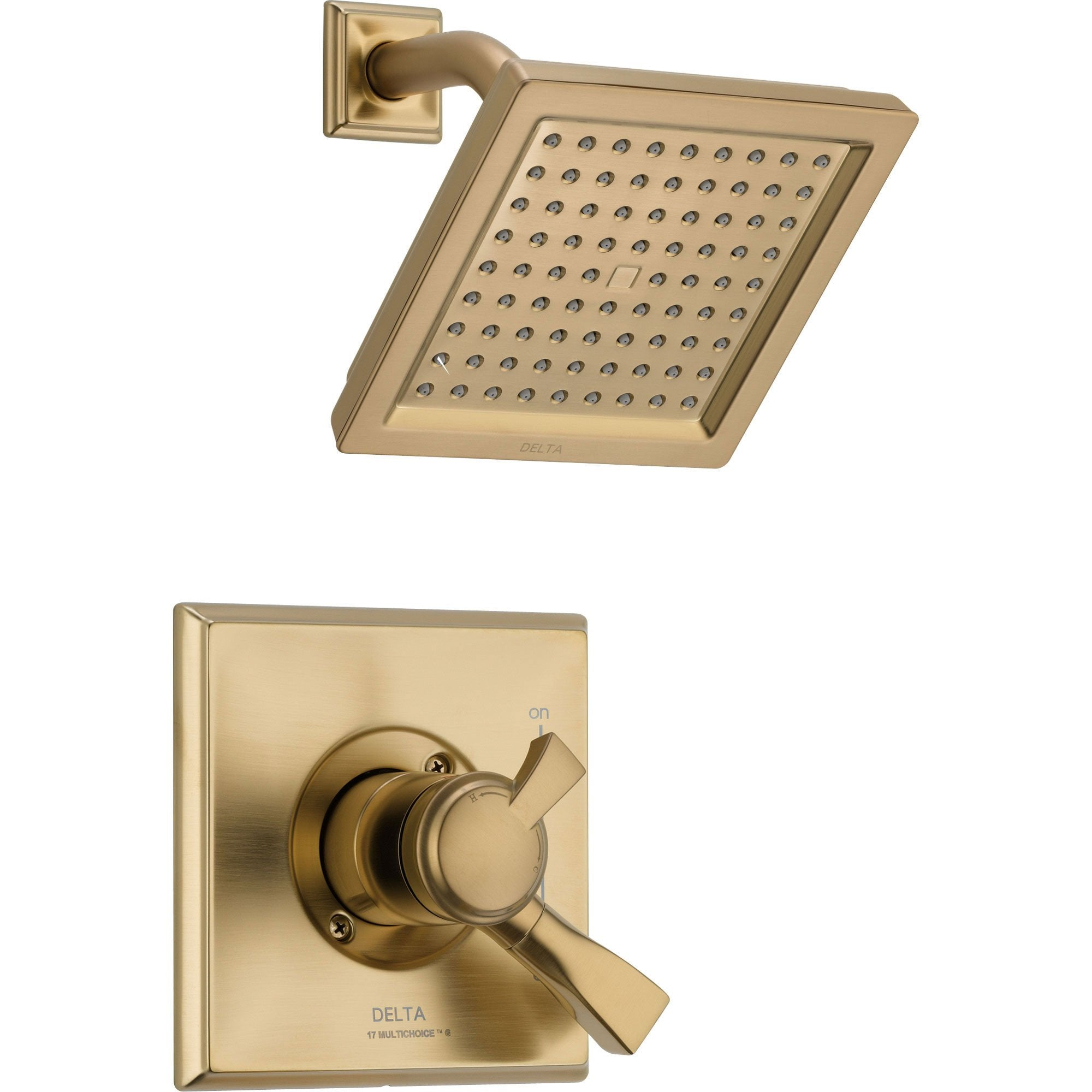 Delta Dryden Champagne Bronze Temp/Volume Control Shower Faucet with Valve D744V