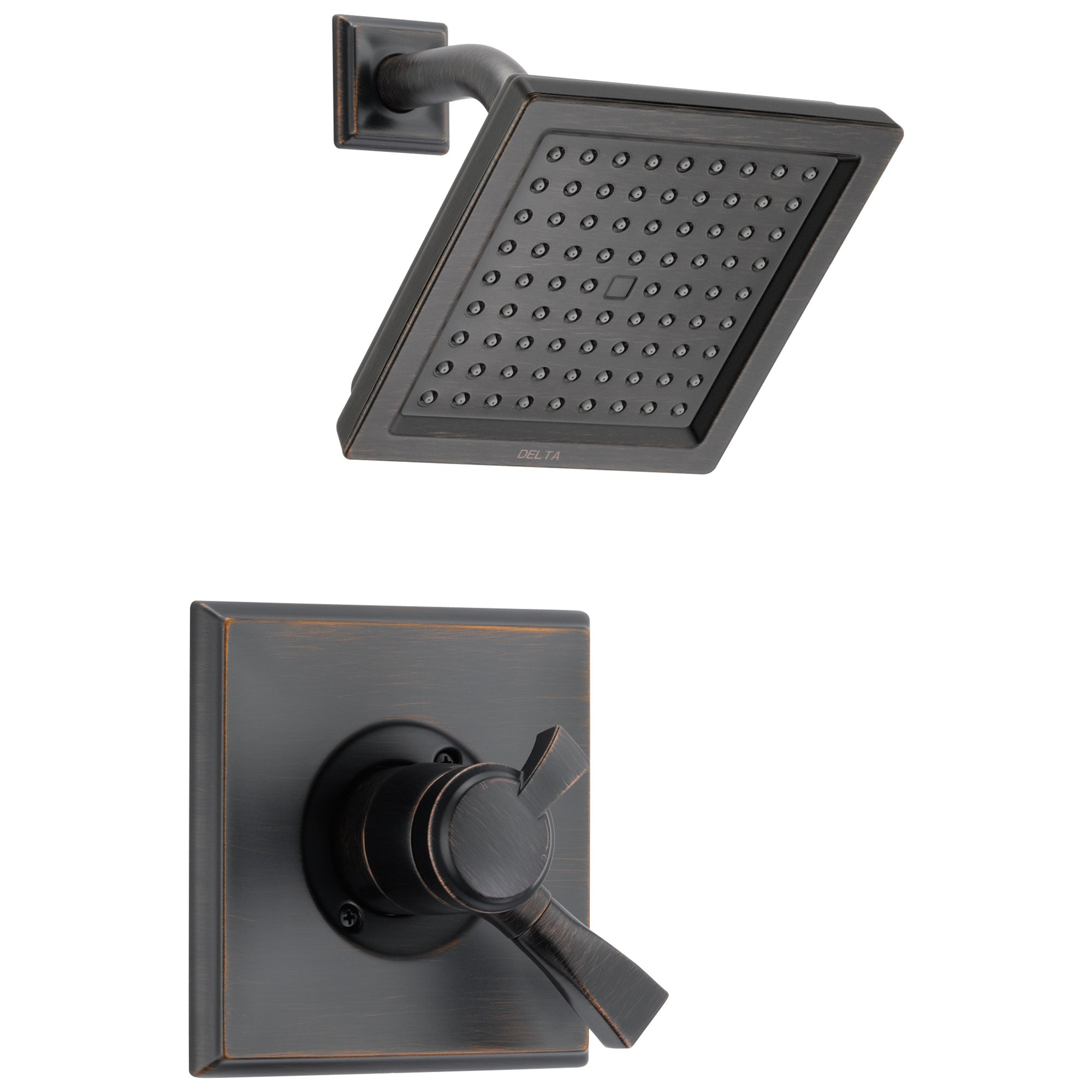 Delta Dryden Venetian Bronze Finish Monitor 17 Series Water Efficient Shower only Faucet Trim Kit (Requires Valve) DT17251RBWE