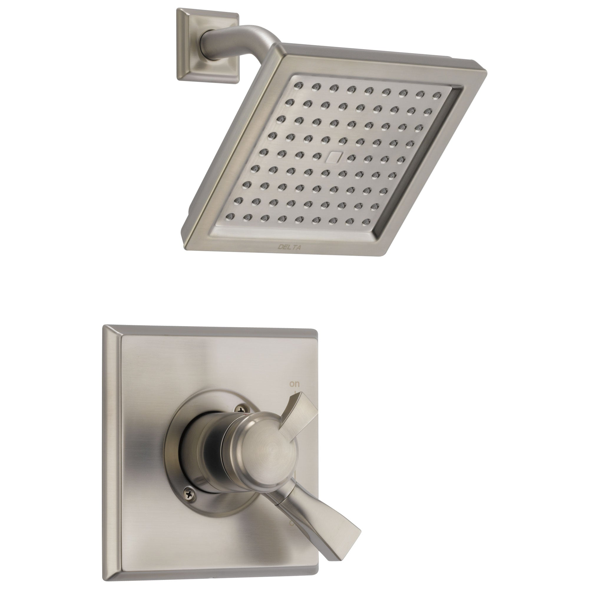 Delta Dryden Collection Stainless Steel Finish Monitor 17 Series Shower Faucet with Double Handle Control Trim Kit (Valve Sold Separately) DT17251SP