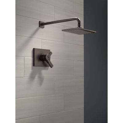 Delta Vero Venetian Bronze Finish Monitor 17 Series Water Efficient Shower only Faucet Includes Handles, Cartridge, and Valve without Stops D3381V