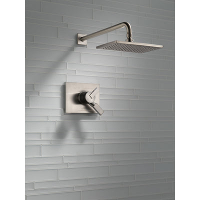 Delta Vero Stainless Steel Finish Monitor 17 Series Water Efficient Shower only Faucet Includes Handles, Cartridge, and Valve with Stops D3380V