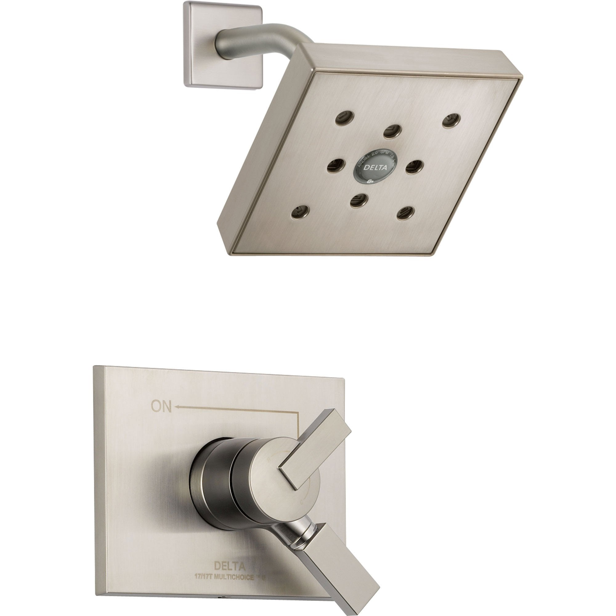 Delta Vero Stainless Steel Finish Temp/Volume Control Shower with Valve D693V