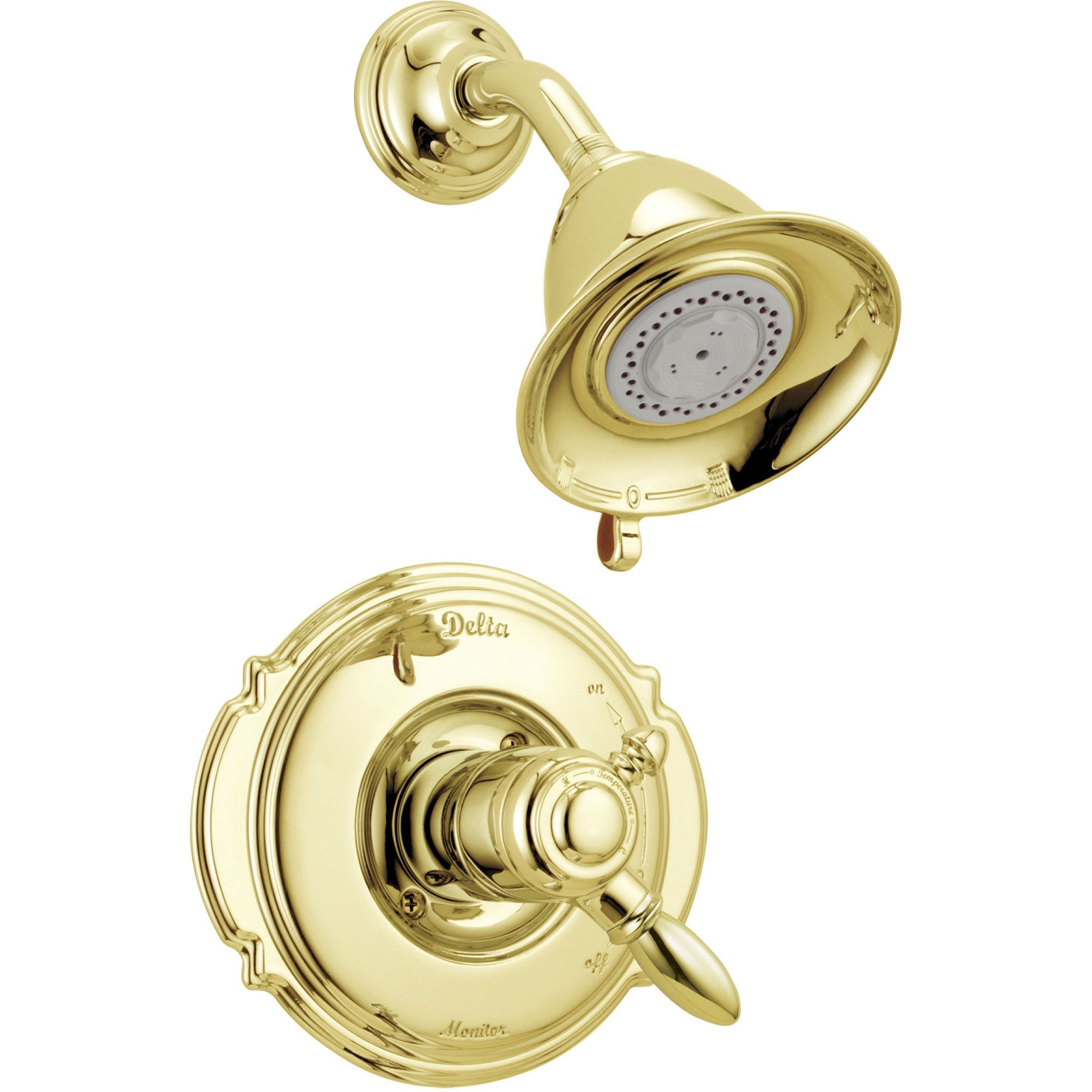Delta Victorian Dual Control Temp/Volume Polished Brass Shower with Valve D698V