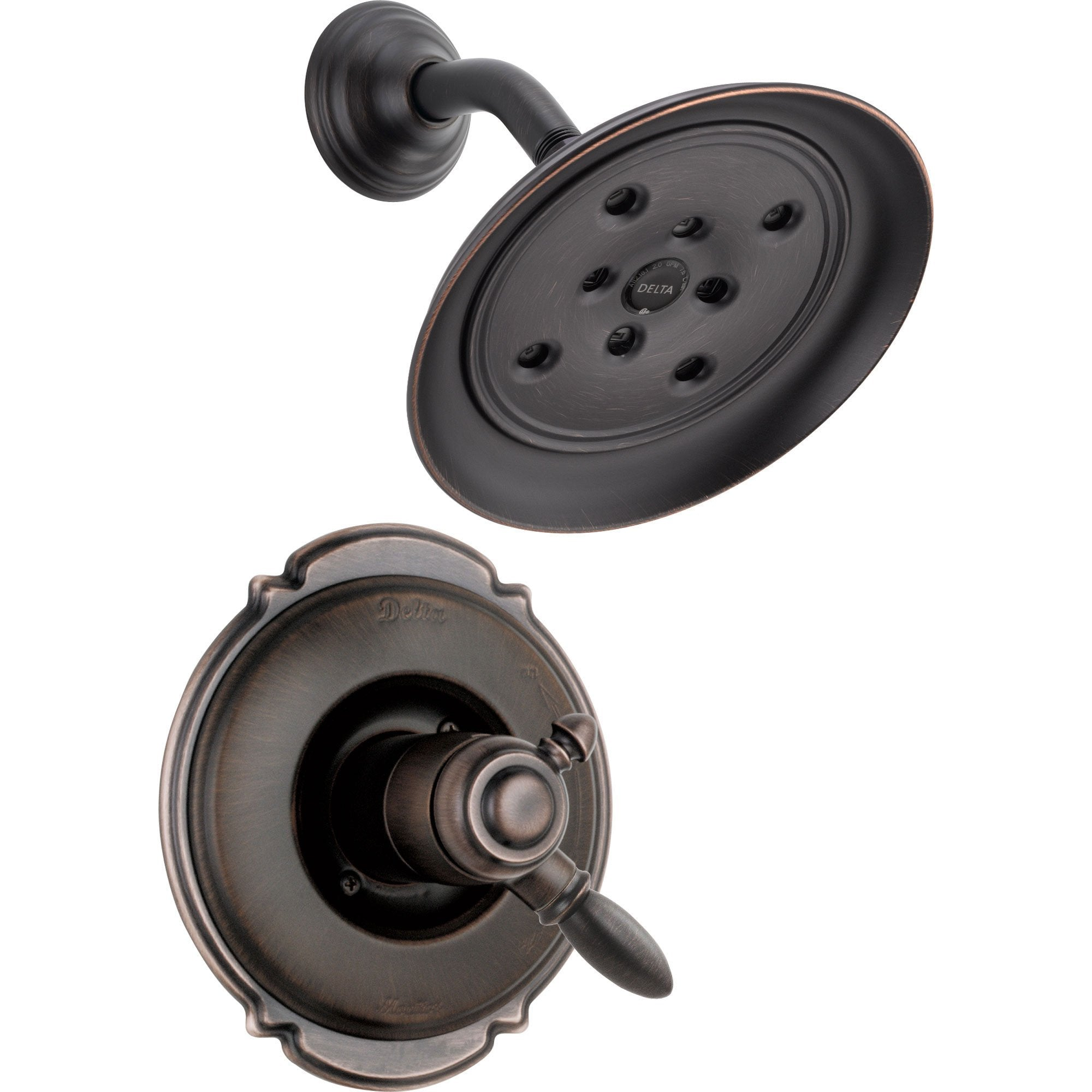 Delta Victorian Dual Control Temp/Volume Venetian Bronze Shower with Valve D700V