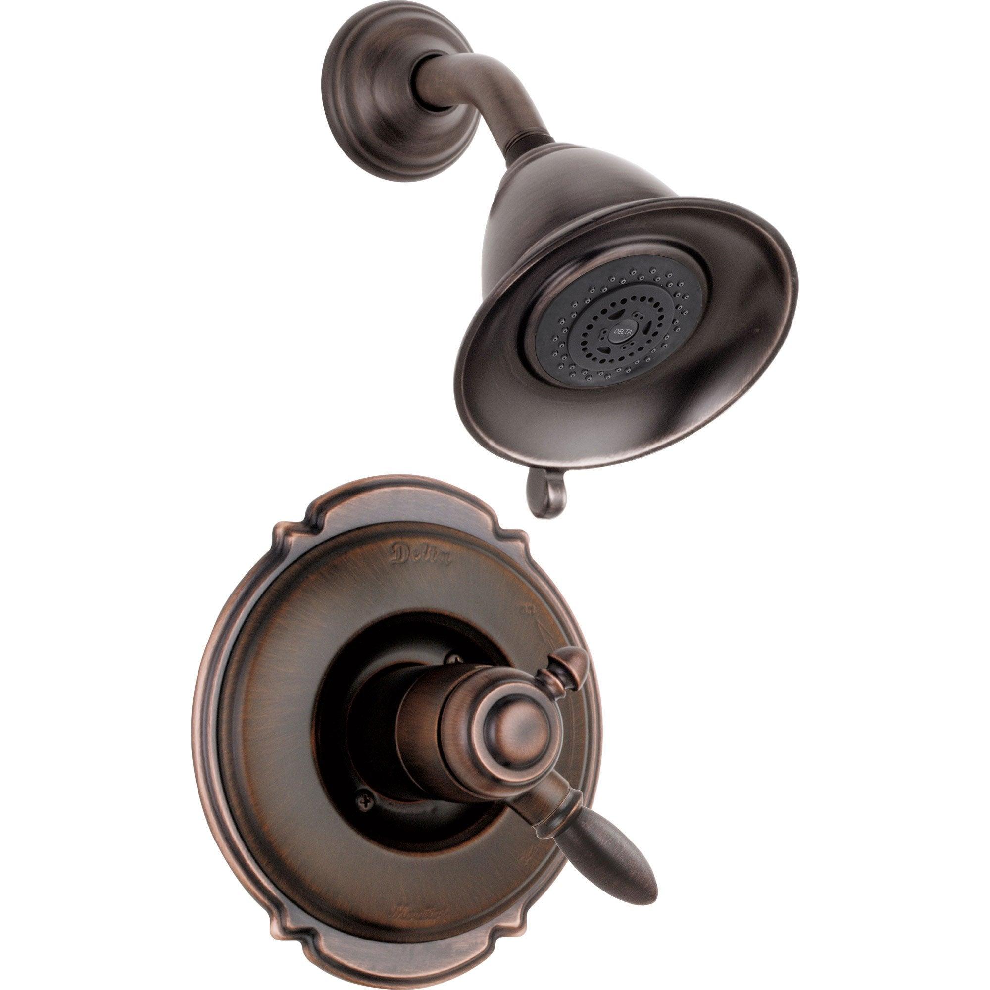 Delta Victorian Dual Control Temp/Volume Venetian Bronze Shower with Valve D764V