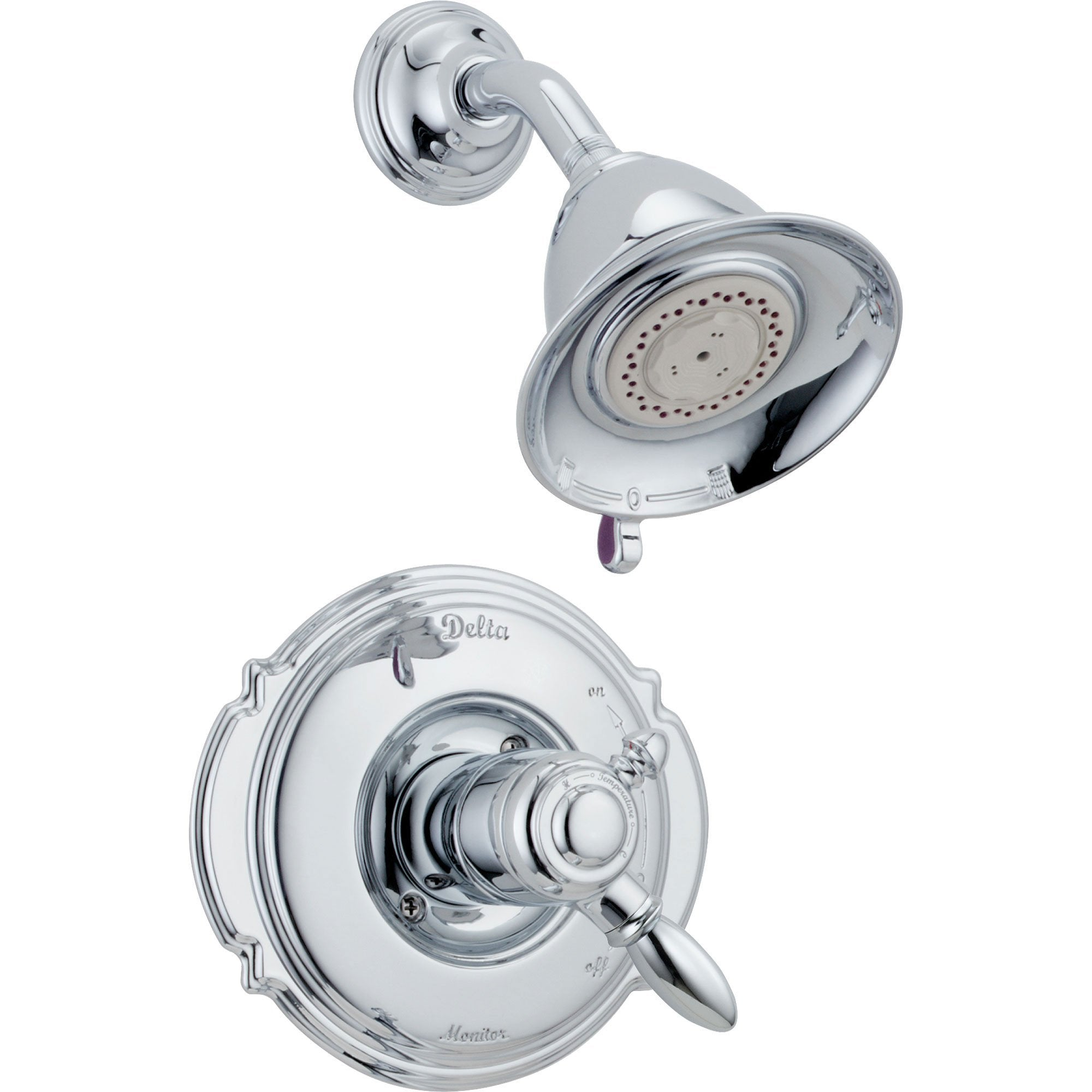 Delta Victorian Dual Control Temp/Volume Chrome Shower Faucet with Valve D694V