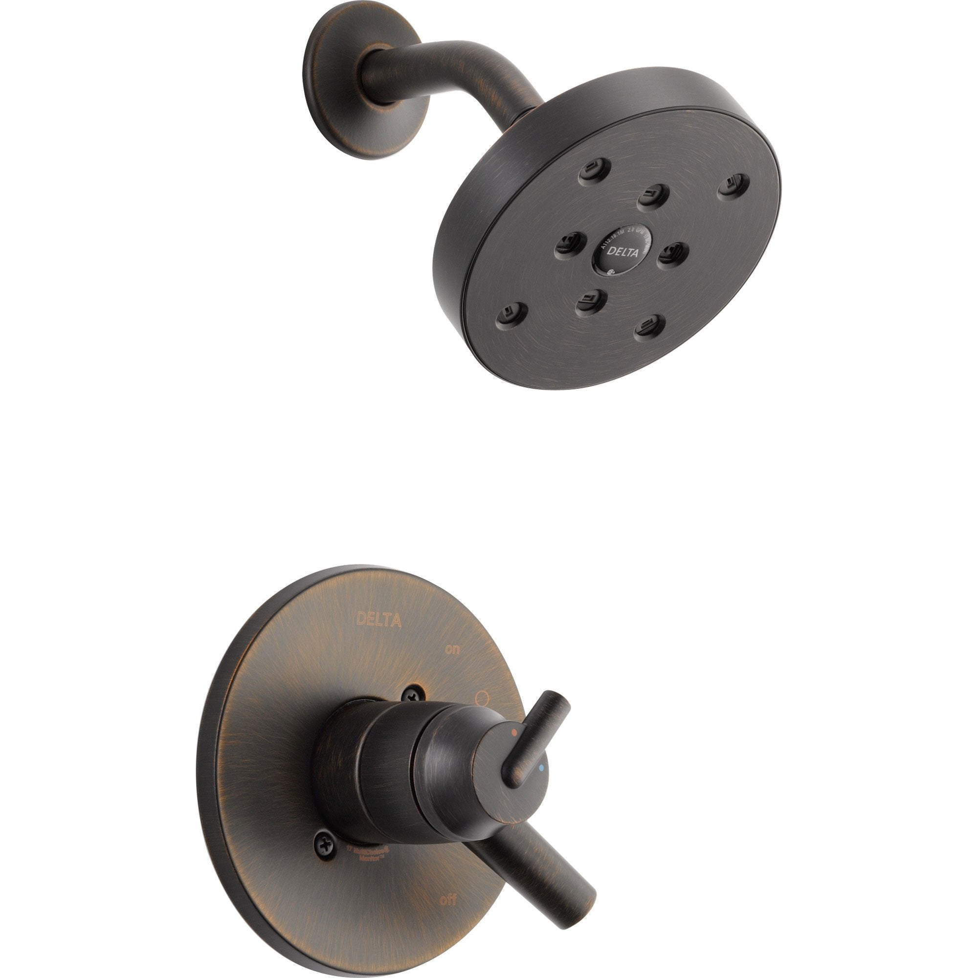Delta Trinsic Dual Control Temp/Volume Venetian Bronze Shower with Valve D769V
