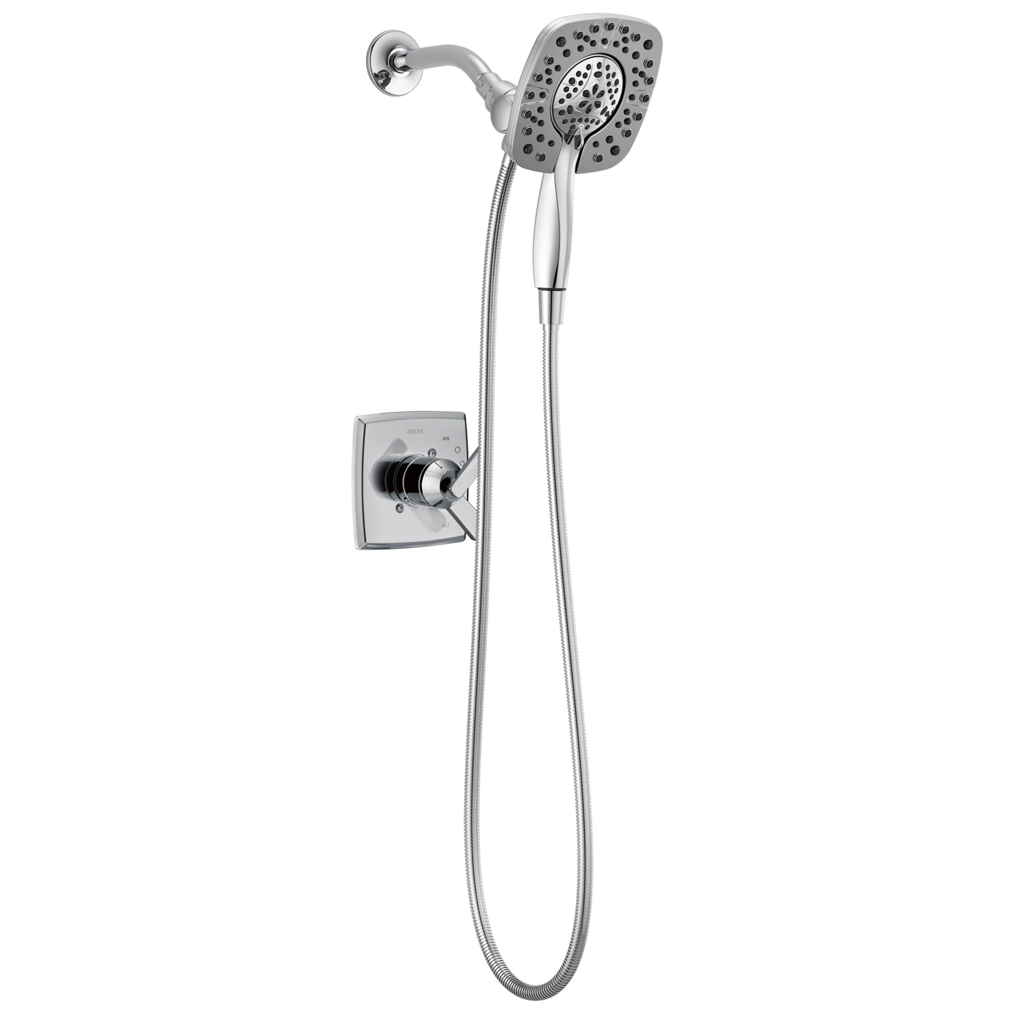 Delta Ashlyn Chrome Finish Monitor 17 Series Shower Only Faucet with In2ition Two-in-One Hand Shower Spray INCLUDES Rough-in Valve D1140V