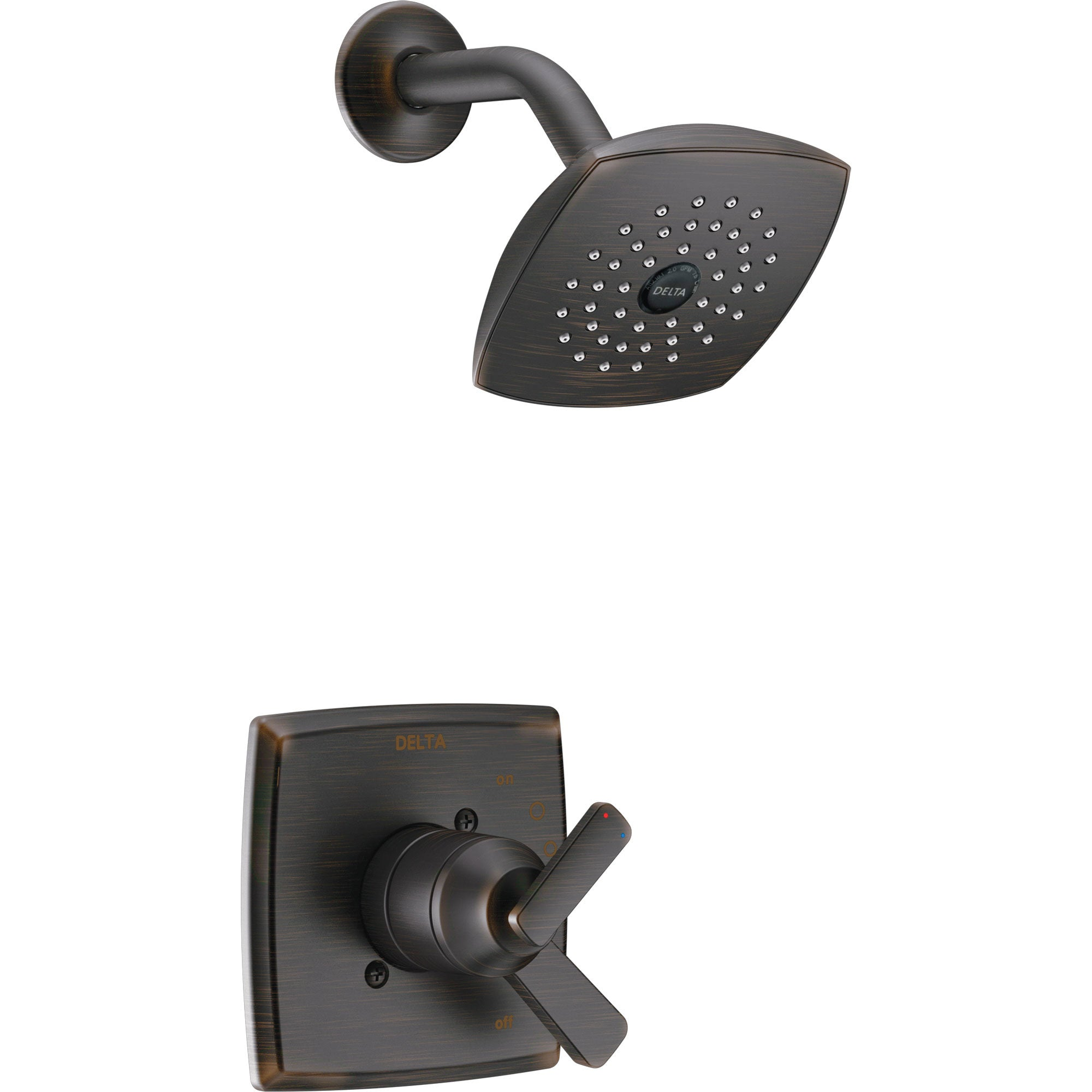 Delta Ashlyn Venetian Bronze Monitor 17 Series Shower Only Faucet with Dual Temperature and Pressure Control INCLUDES Rough-in Valve D1138V