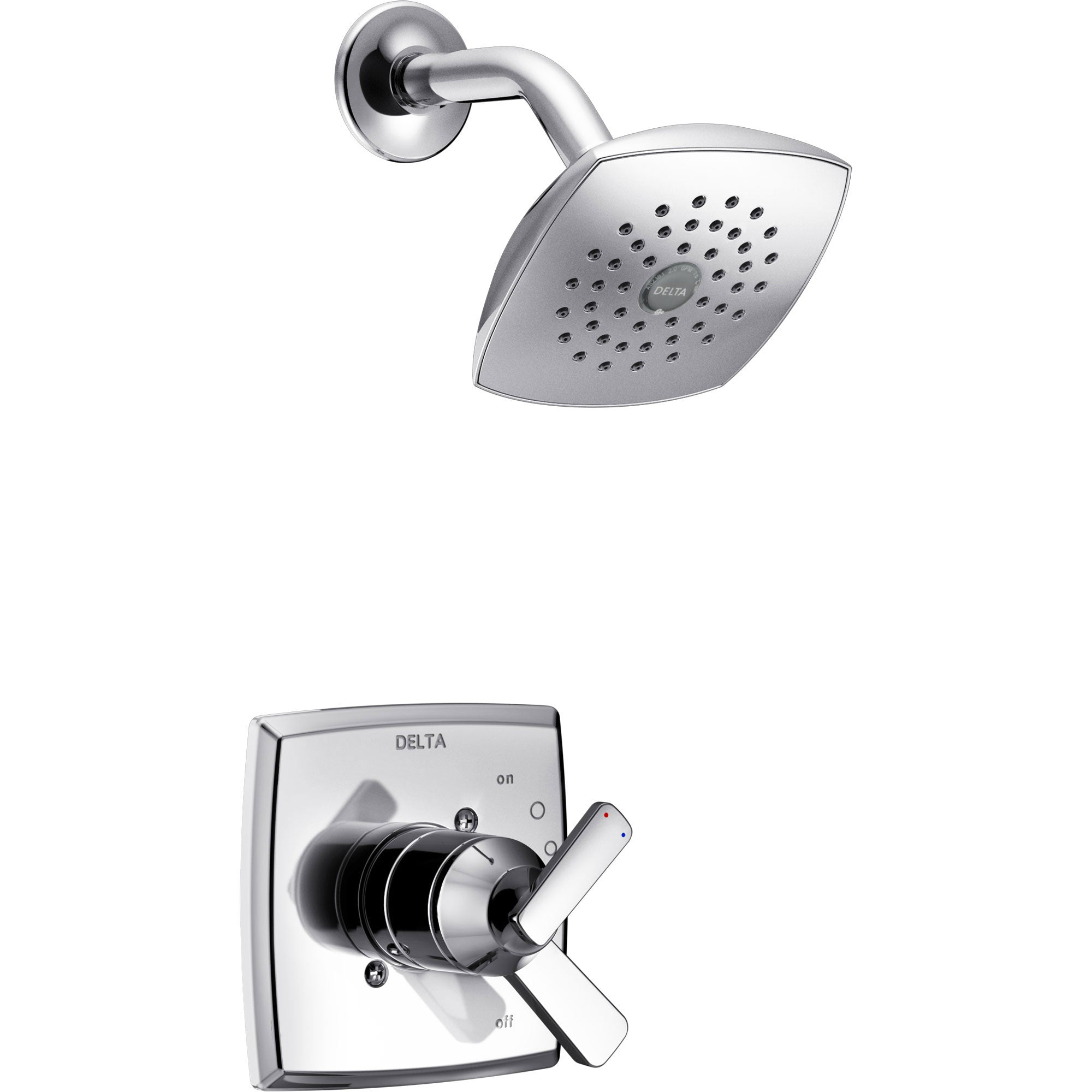 Delta Ashlyn Chrome Finish Monitor 17 Series Shower Only Faucet with Dual Temperature and Pressure Control INCLUDES Rough-in Valve with Stops D1143V
