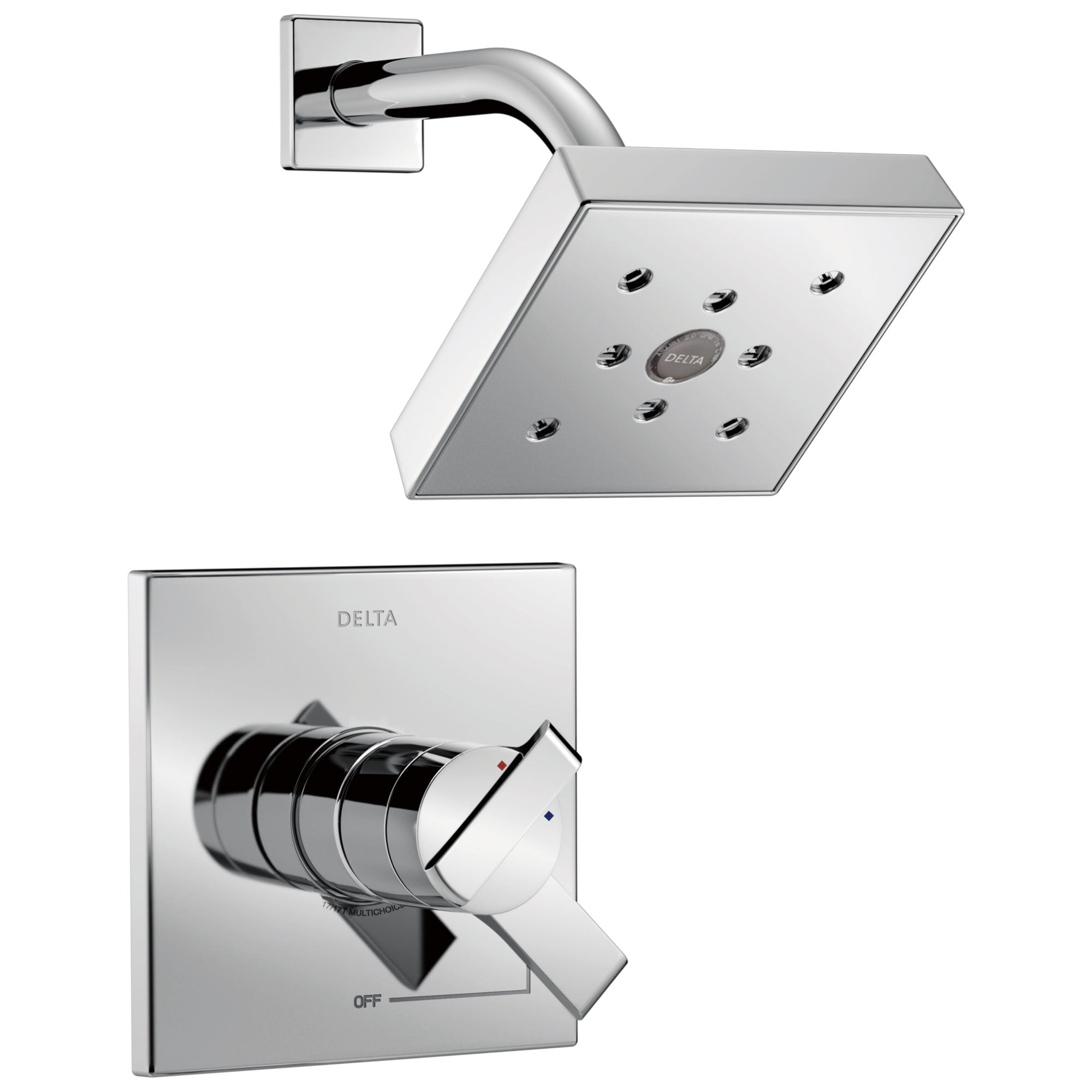 Delta Ara Collection Chrome Monitor 17 Dual Water Pressure and ...