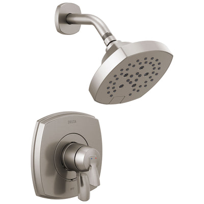 Delta Stryke Stainless Steel Finish Monitor 17 Series Shower Only Faucet Includes Handles, Cartridge, and Valve with Stops D3364V