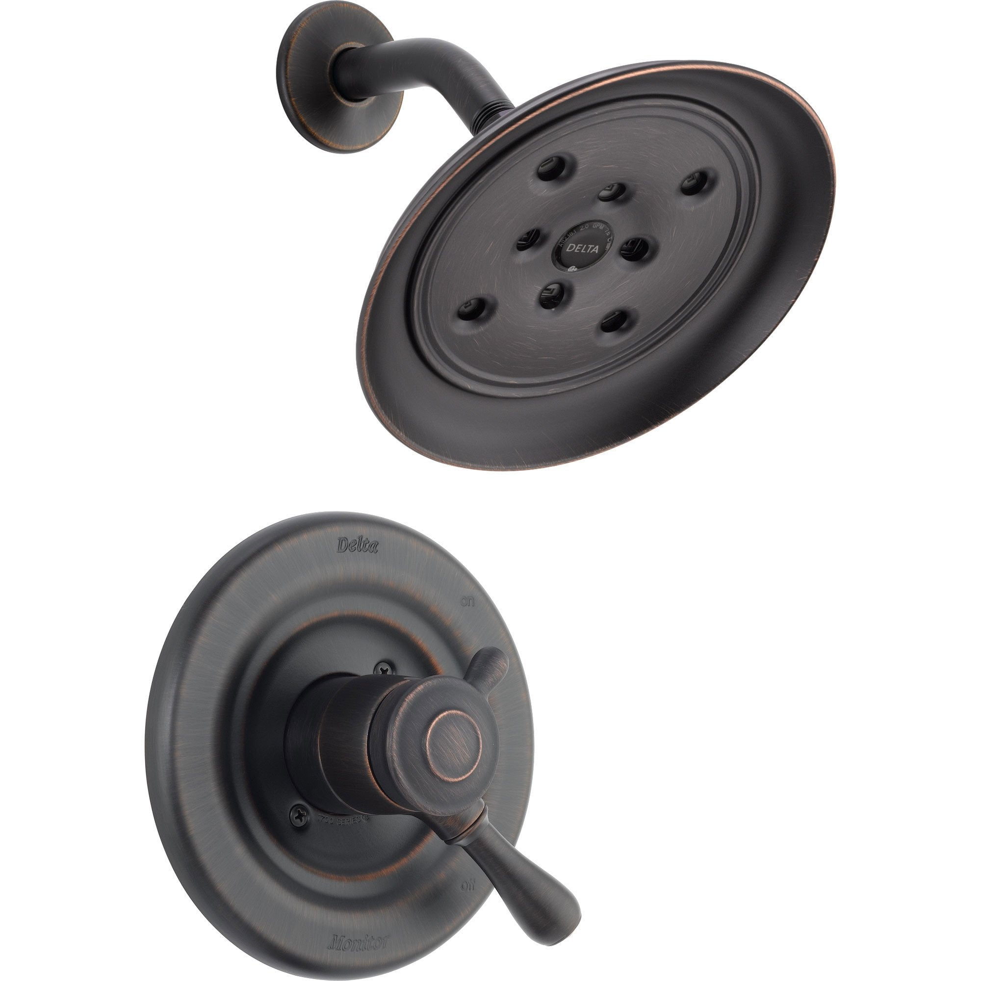 Delta Leland Dual Control Temp/Volume Venetian Bronze Shower with Valve D776V