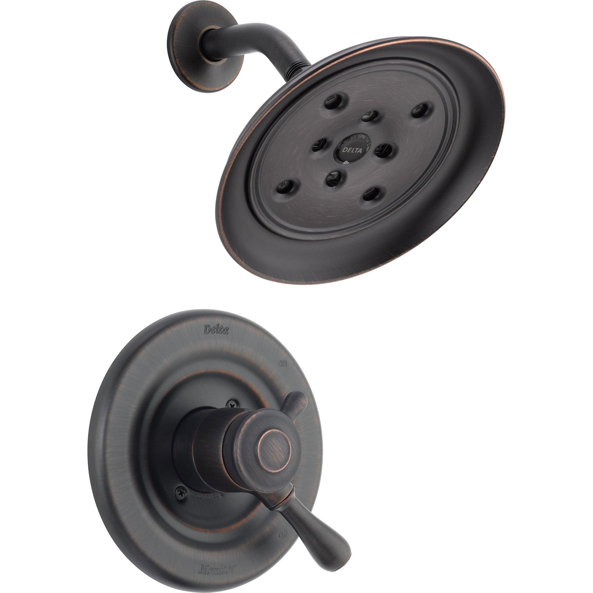 Delta Leland Dual Control Temp/Volume Venetian Bronze Shower Trim Kit 561032