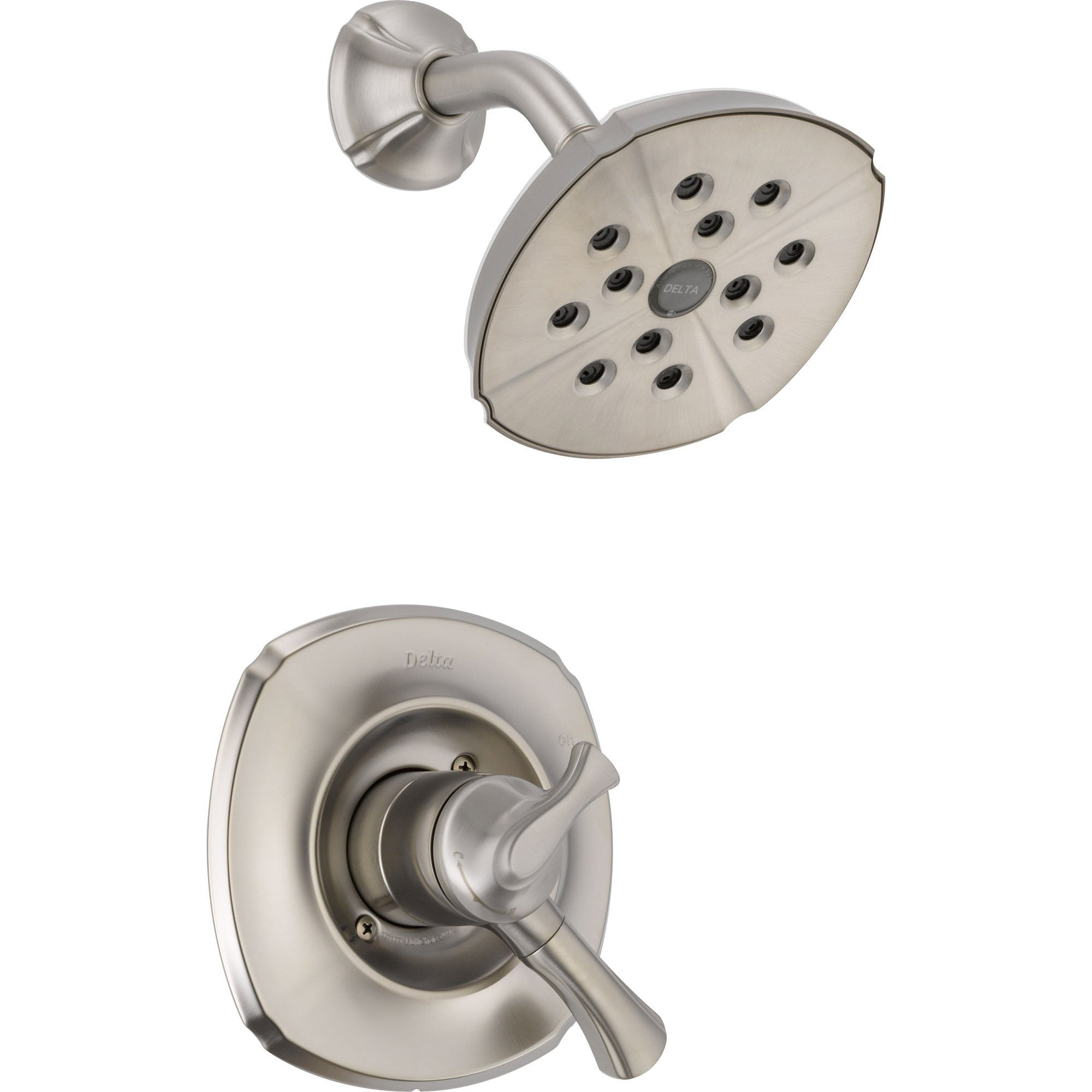 Delta Addison Dual Temp/Volume Stainless Steel Finish Shower with Valve D719V