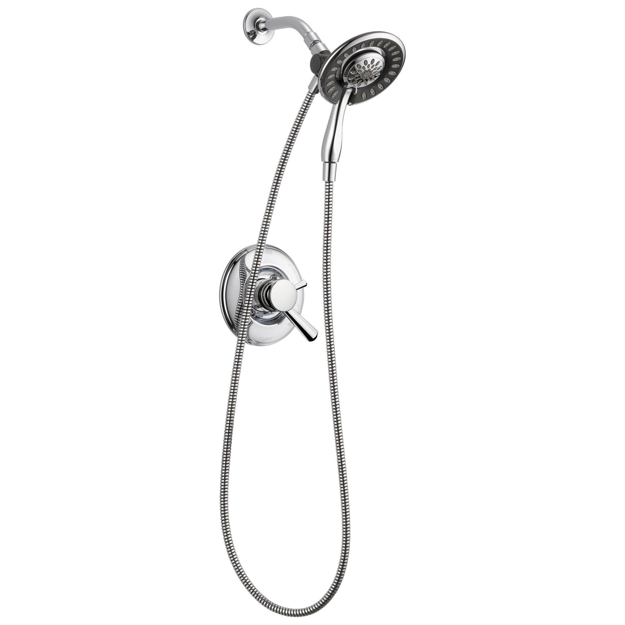 Delta Linden Collection Chrome Monitor 17 Dual Control Shower only Faucet with Handspray and Showerhead Combo Trim (Requires Rough Valve) DT17293I
