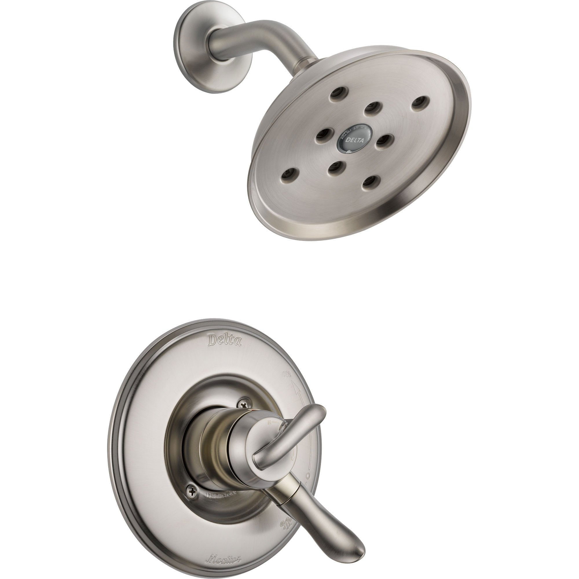 Delta Linden Dual Temp/Volume Stainless Steel Finish Shower with Valve D721V
