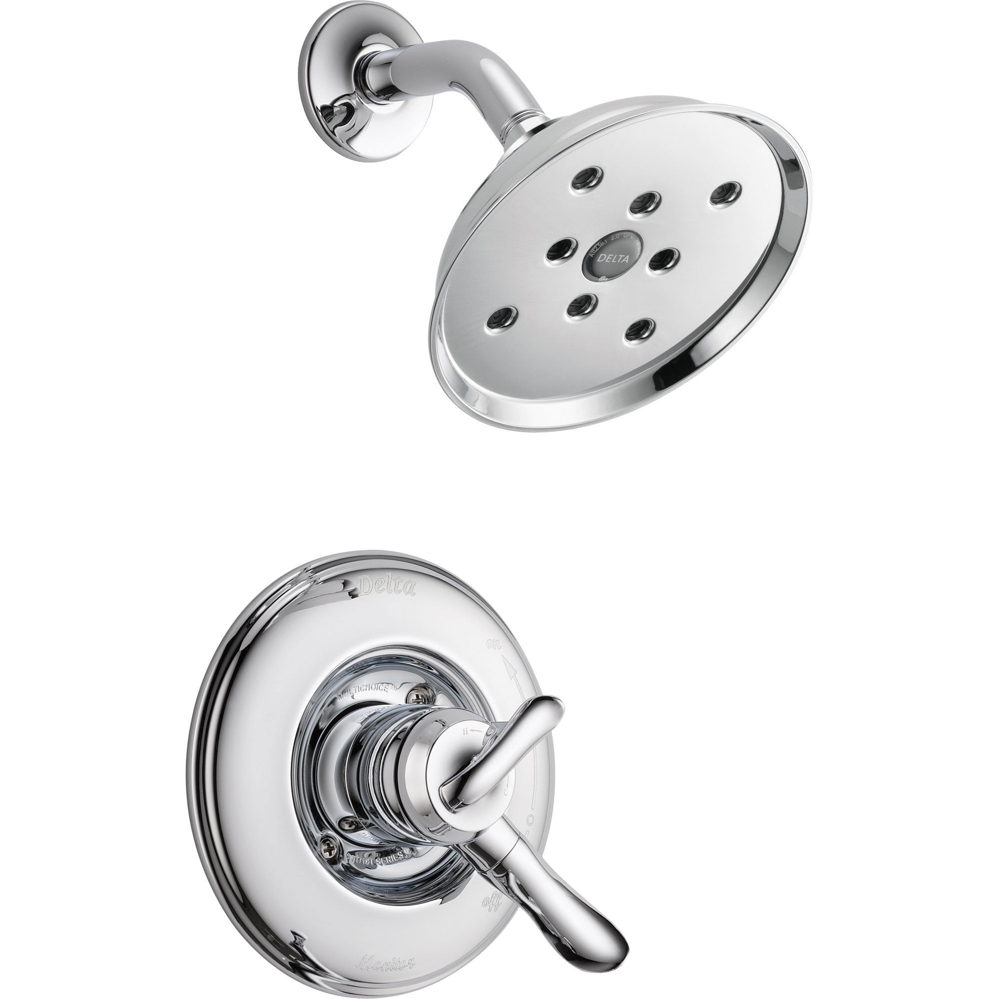 Delta Linden Dual Control Temp/Volume Chrome Shower Faucet with Valve D785V